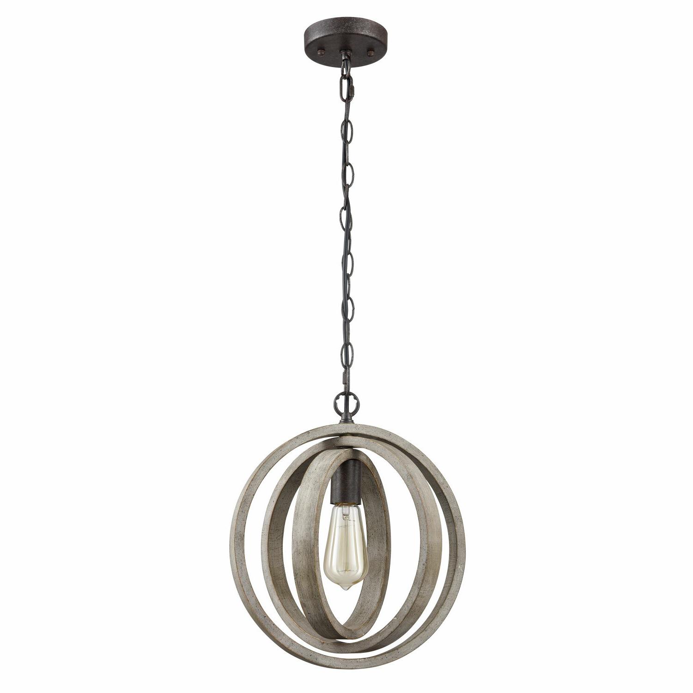 Favorite Adame Modern Rustic 1 Light Globe Pendant Throughout Irwin 1 Light Single Globe Pendants (View 15 of 25)