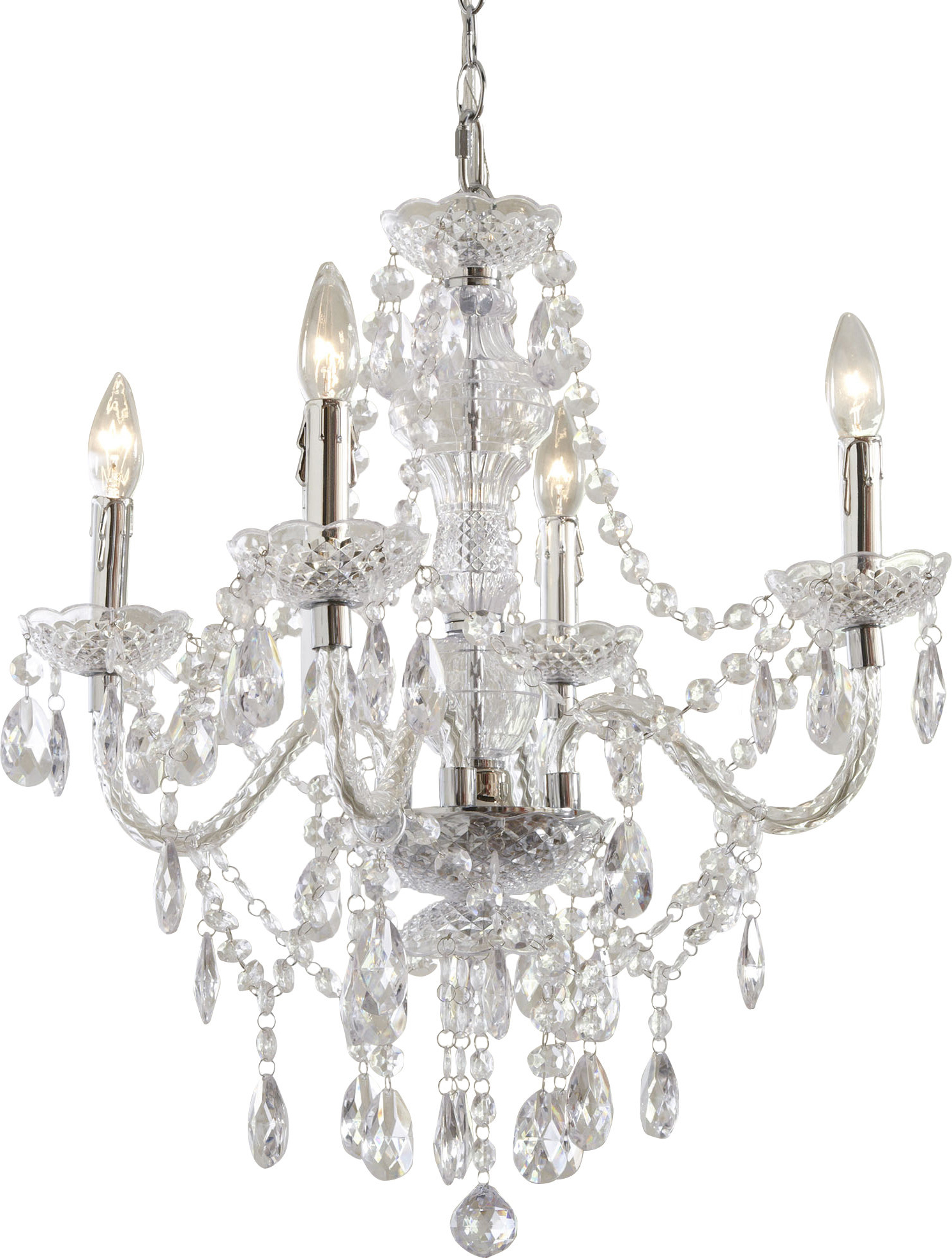 Favorite Aldora 4 Light Candle Style Chandeliers With Ice Palace 4 Light Crystal Chandelier (View 11 of 25)
