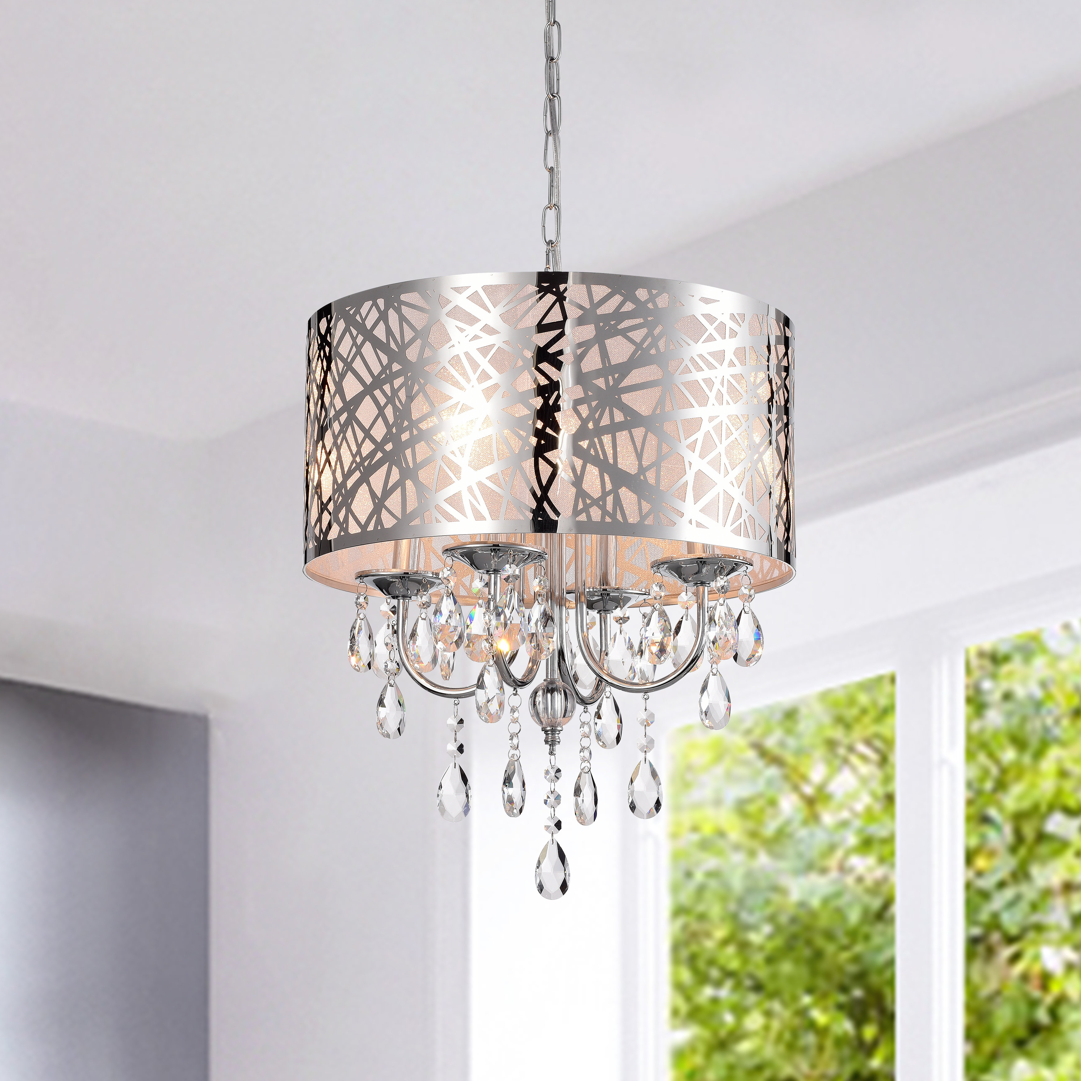 Featured Photo of Alverez 4 Light Drum Chandeliers