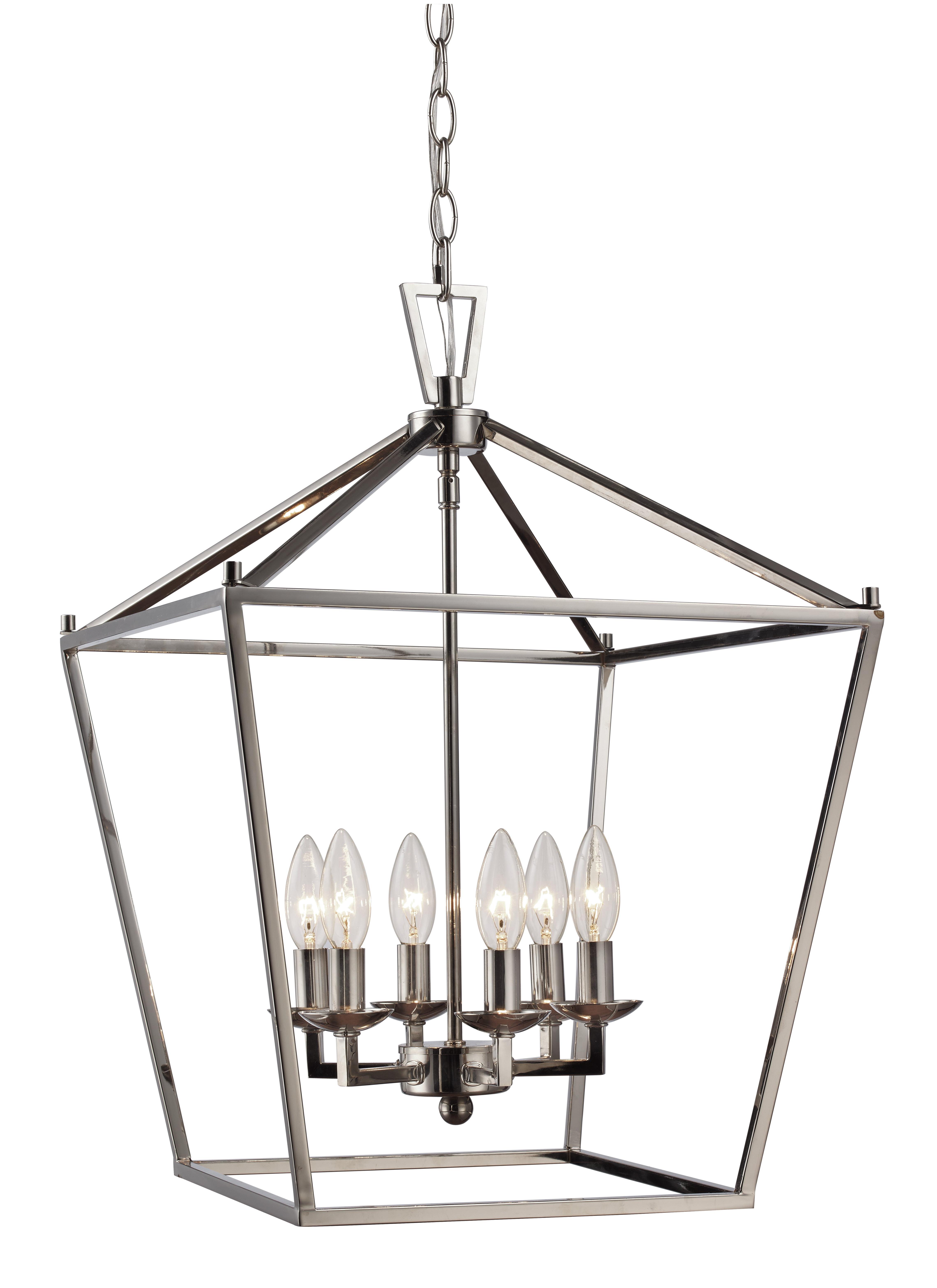 Favorite Carmen 6 Light Lantern Geometric Pendants Pertaining To Carmen 6 Light Lantern Geometric Pendant (View 10 of 25)