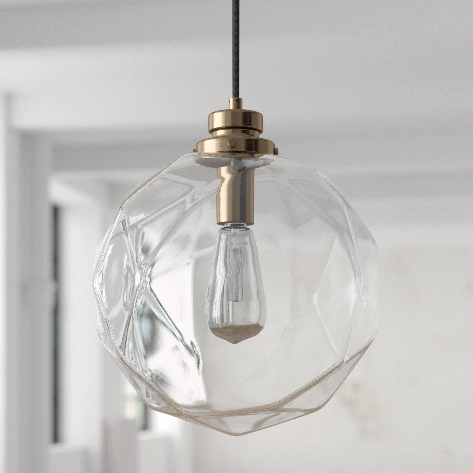 Favorite Cayden 1 Light Single Globe Pendants Intended For 1 Light Geometric Globe Pendant (View 18 of 25)