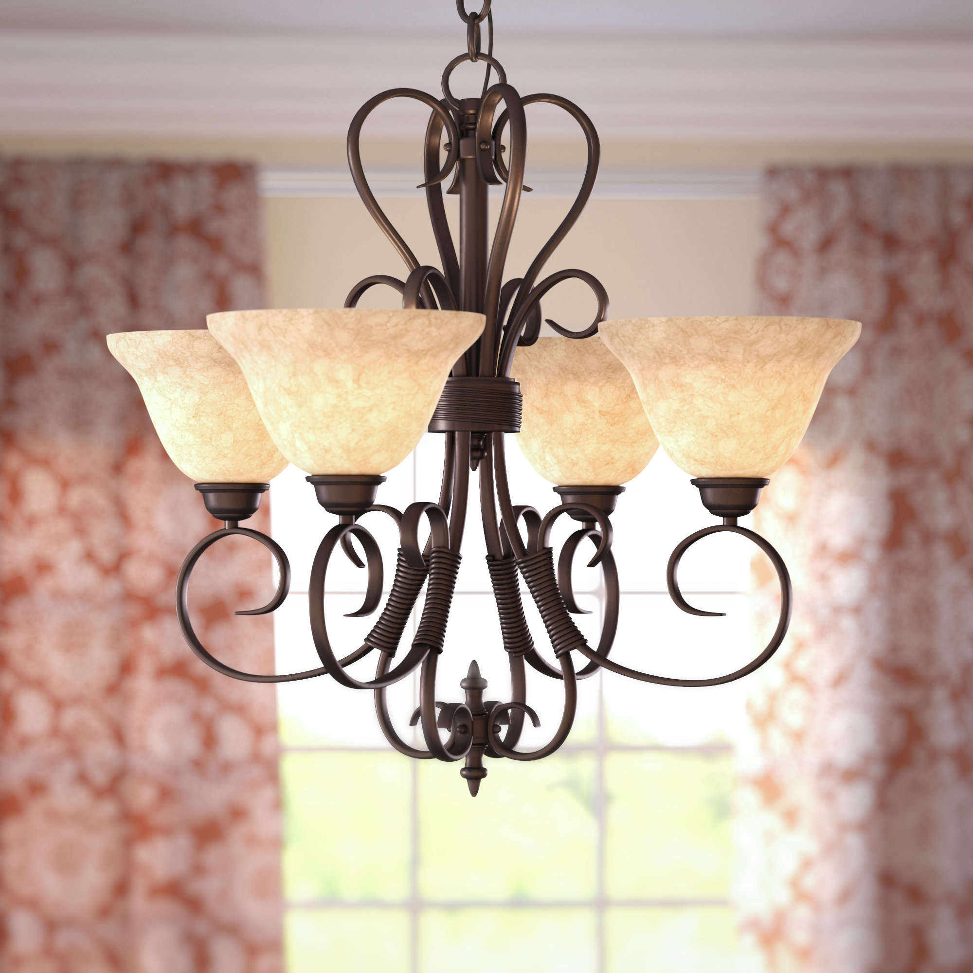 Favorite Gaines 4 Light Shaded Chandelier Pertaining To Gaines 5 Light Shaded Chandeliers (View 6 of 25)