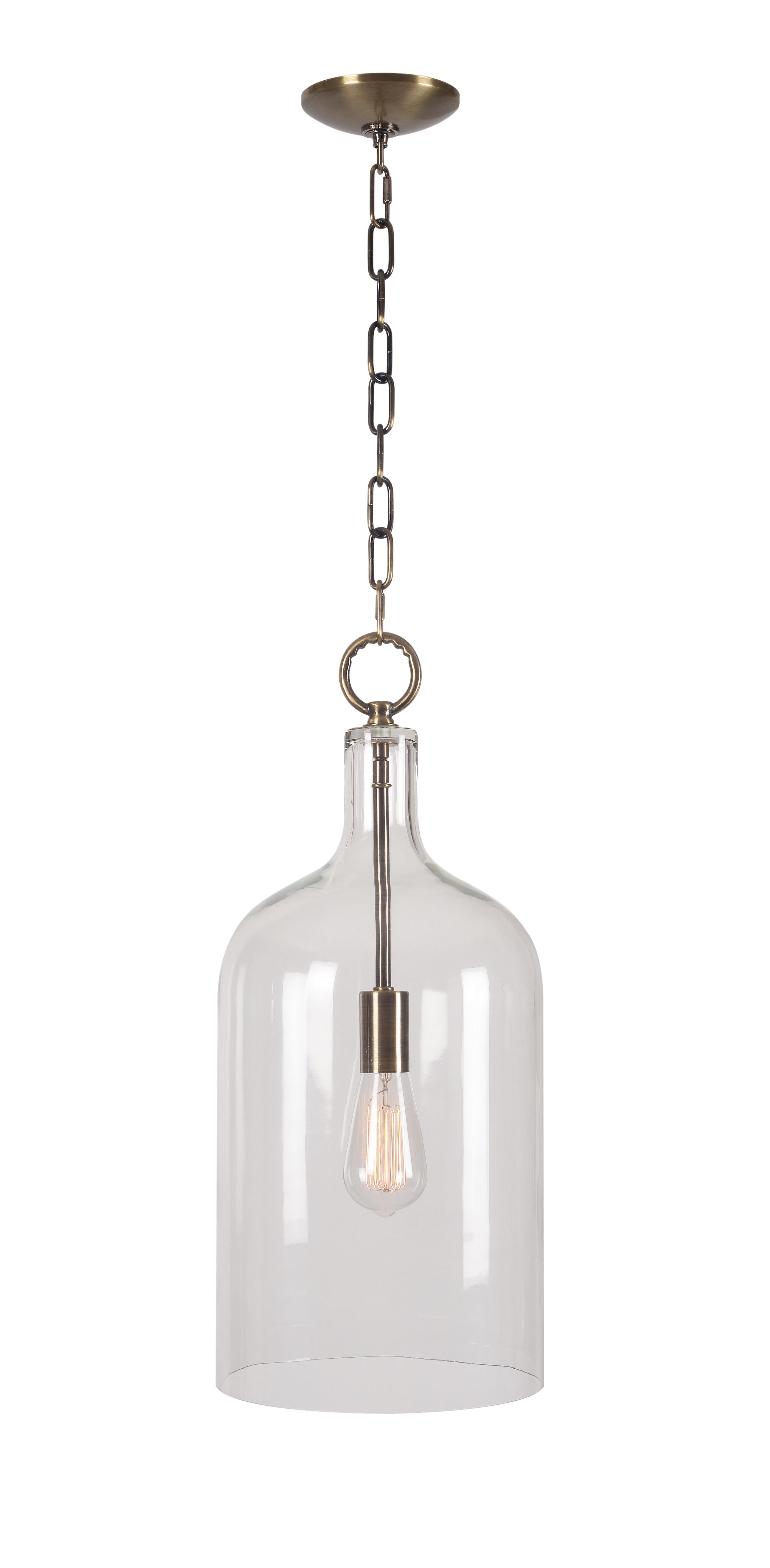 Favorite Giacinta 1 Light Single Bell Pendants Throughout Clematite 1 Light Single Jar Pendant (View 7 of 25)