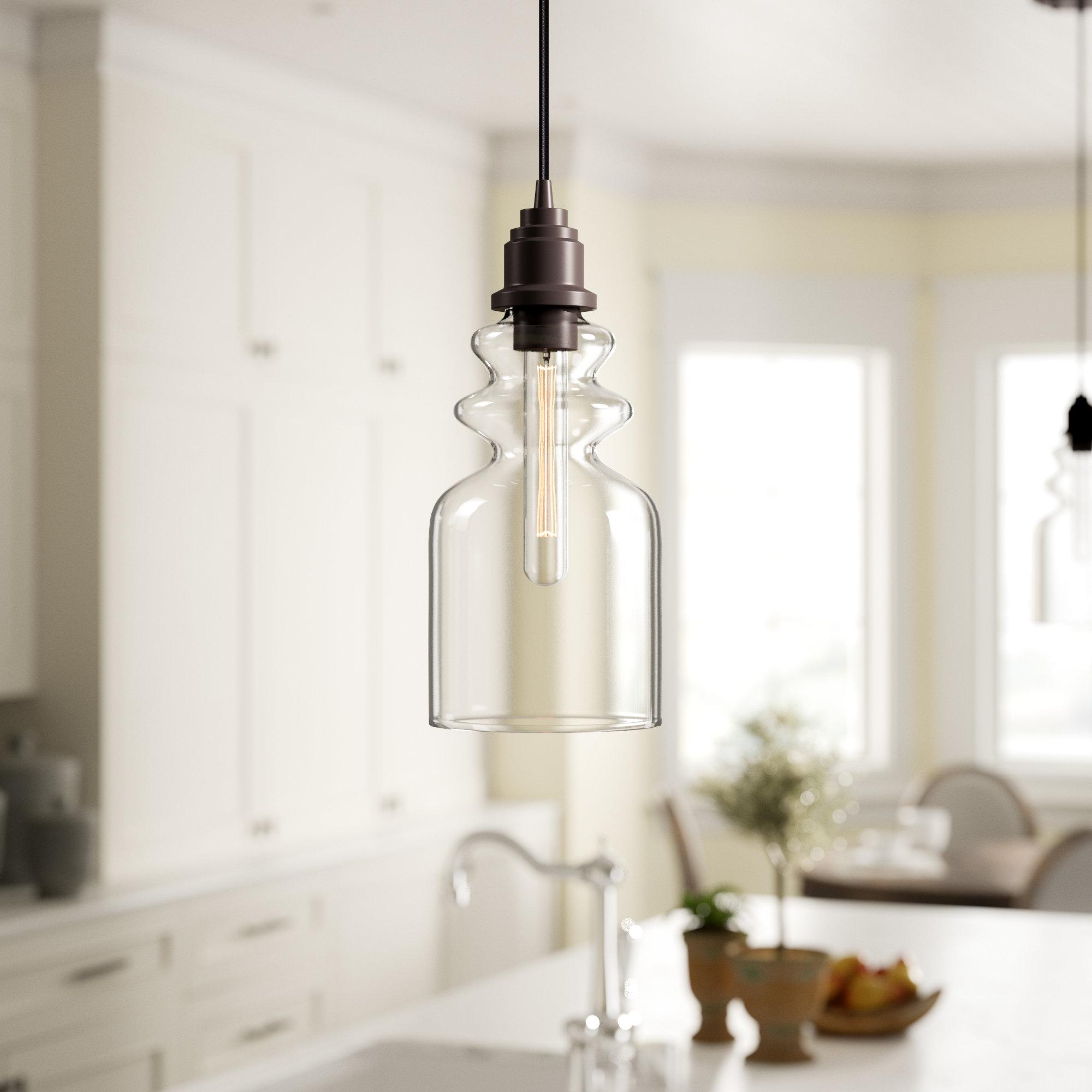 Favorite Giacinta 1 Light Single Bell Pendants Throughout Wyckoff 1 Light Bell Pendant (View 8 of 25)