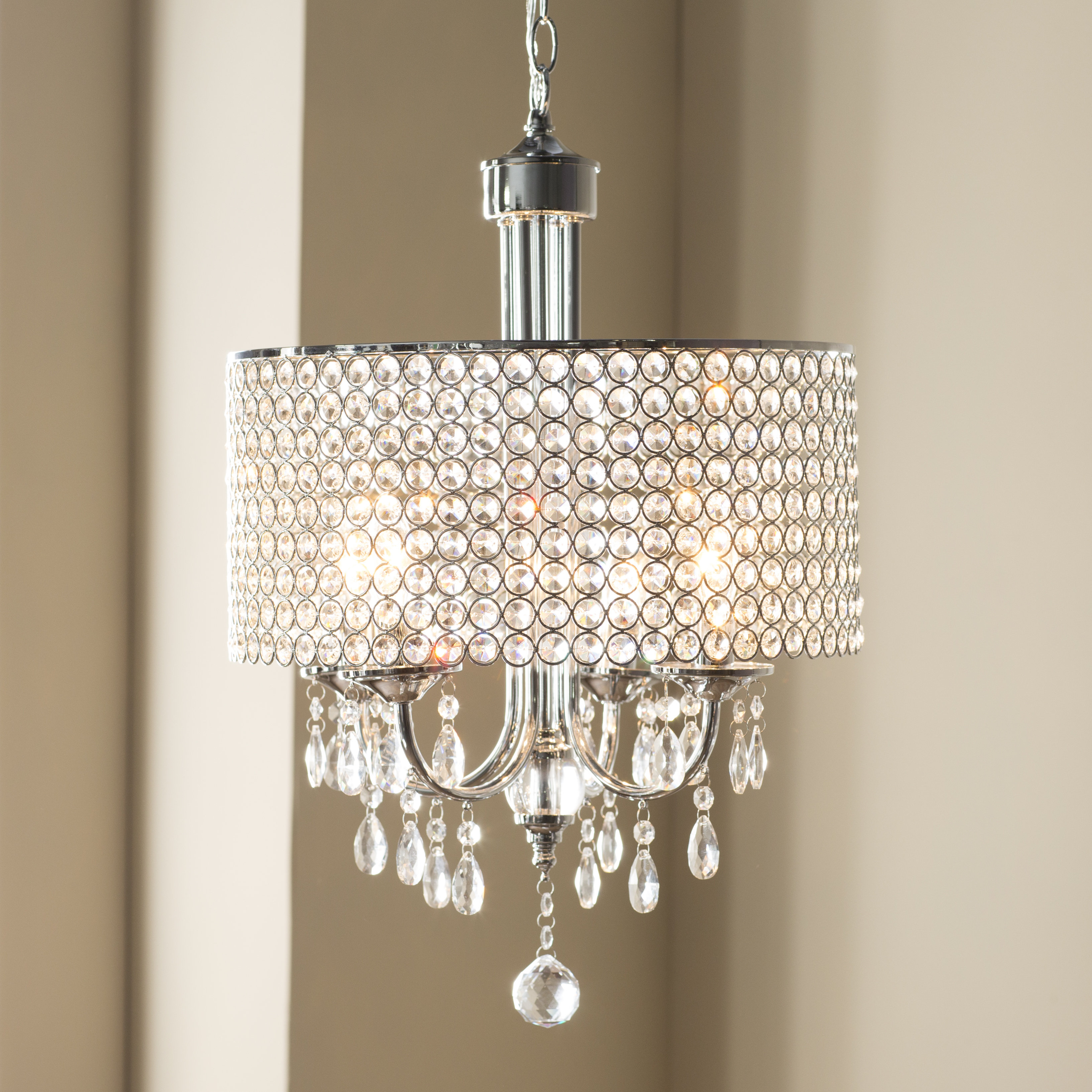 Favorite House Of Hampton Oldman 4 Light Crystal Chandelier Regarding Aldgate 4 Light Crystal Chandeliers (View 14 of 25)