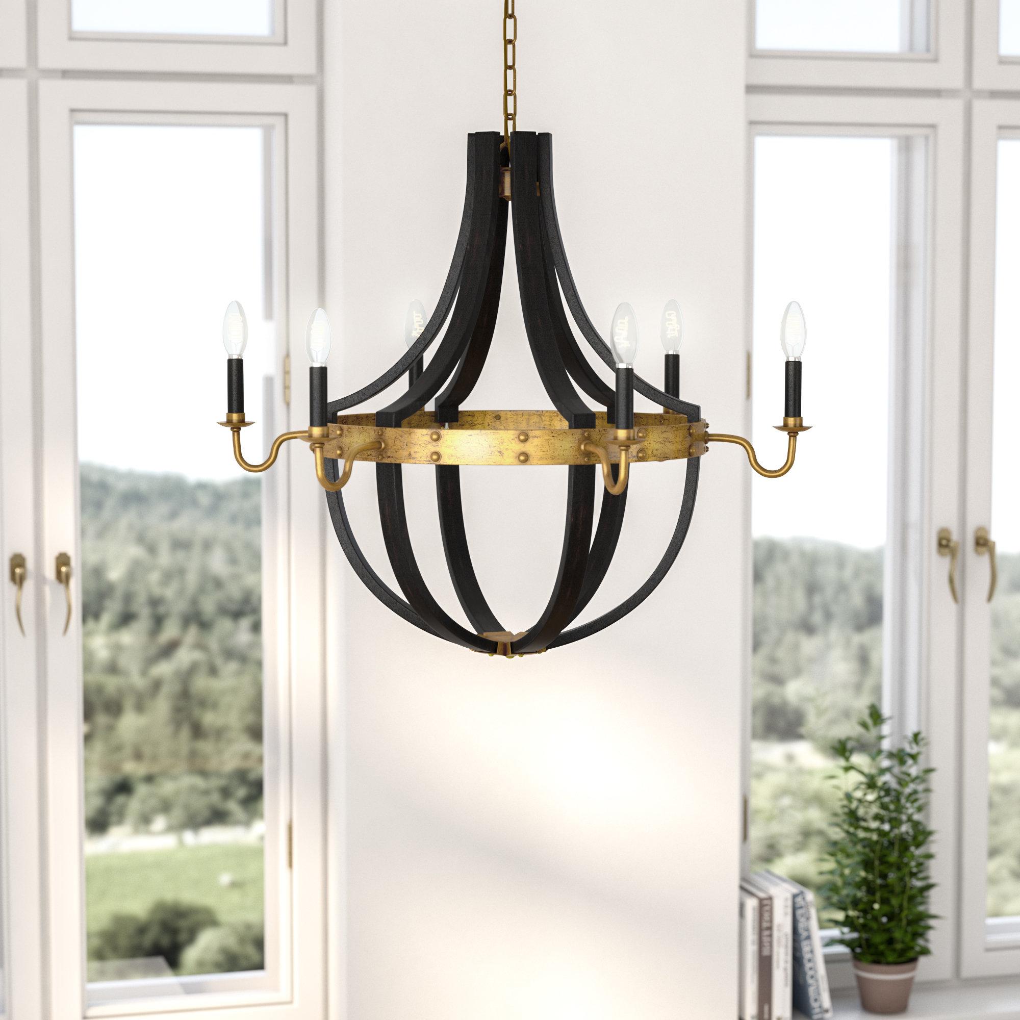 Favorite La Sarre 3 Light Globe Chandeliers Within Karteek 6 Light Led Empire Chandelier (View 13 of 25)