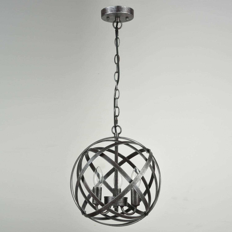 Favorite Mcinerney Cage 3 Light Globe Chandelier Inside Shipststour 3 Light Globe Chandeliers (View 8 of 25)