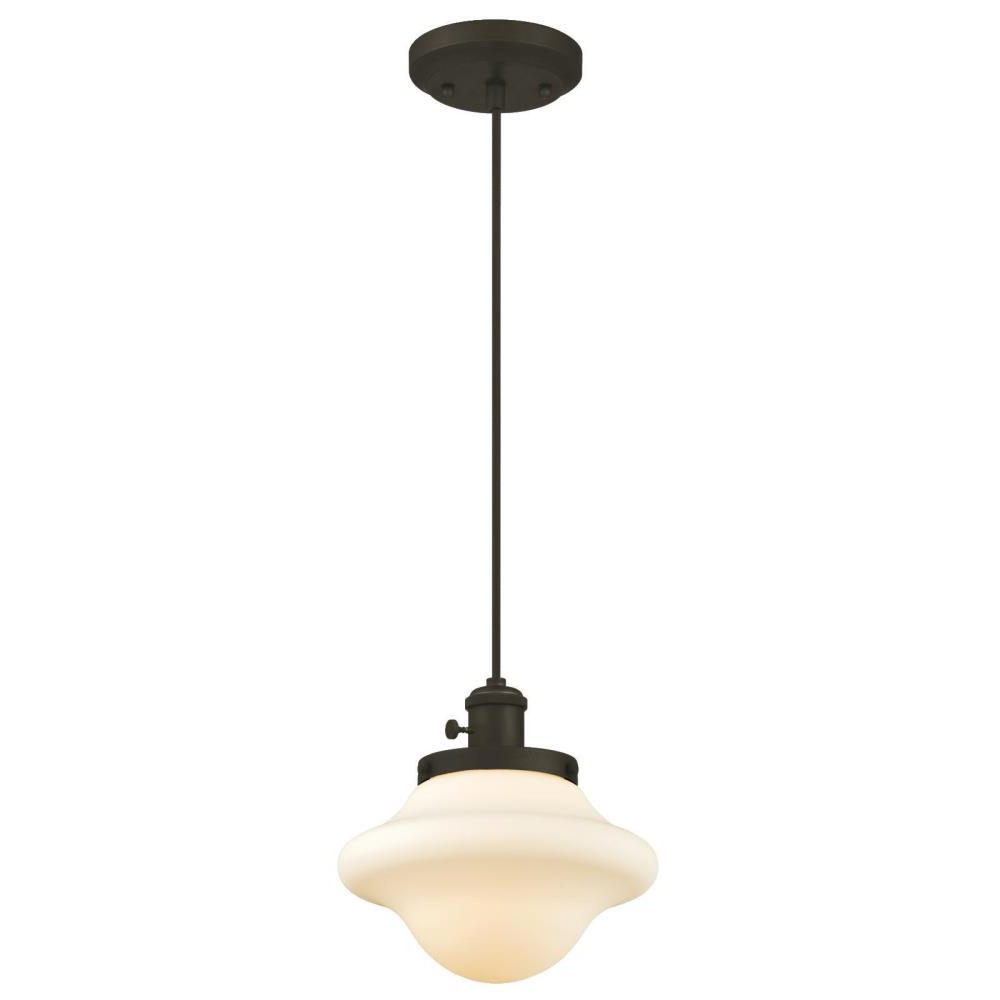 Favorite Moris 1 Light Cone Pendants Regarding Westinghouse 1 Light Oil Rubbed Bronze Mini Pendant (View 12 of 25)