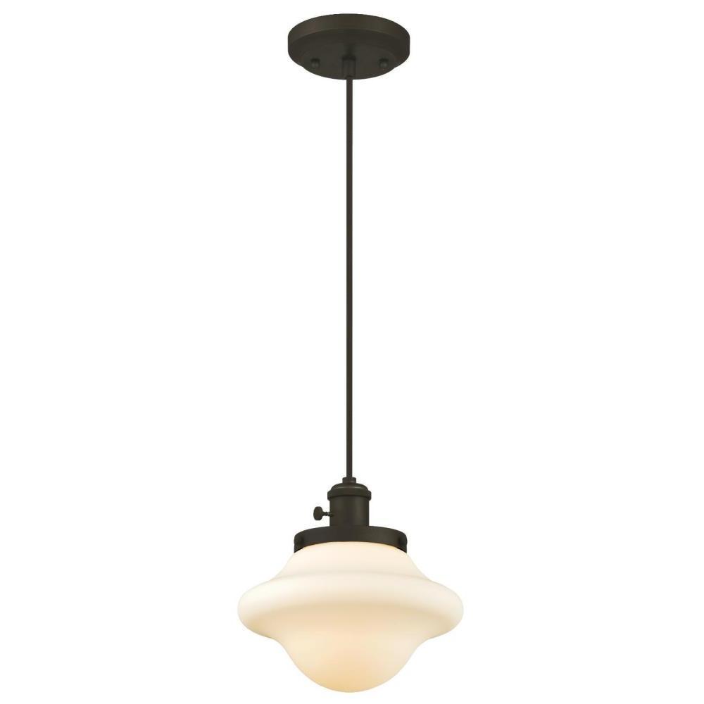 Favorite Moris 1 Light Cone Pendants Regarding Westinghouse 1 Light Oil Rubbed Bronze Mini Pendant (View 5 of 25)
