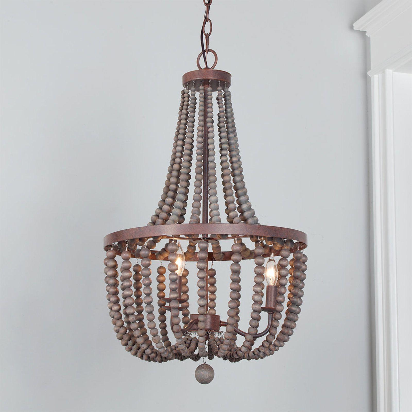 Favorite Nehemiah 3 Light Empire Chandeliers For Refined Beaded Drop Basket Chandelier (View 6 of 25)