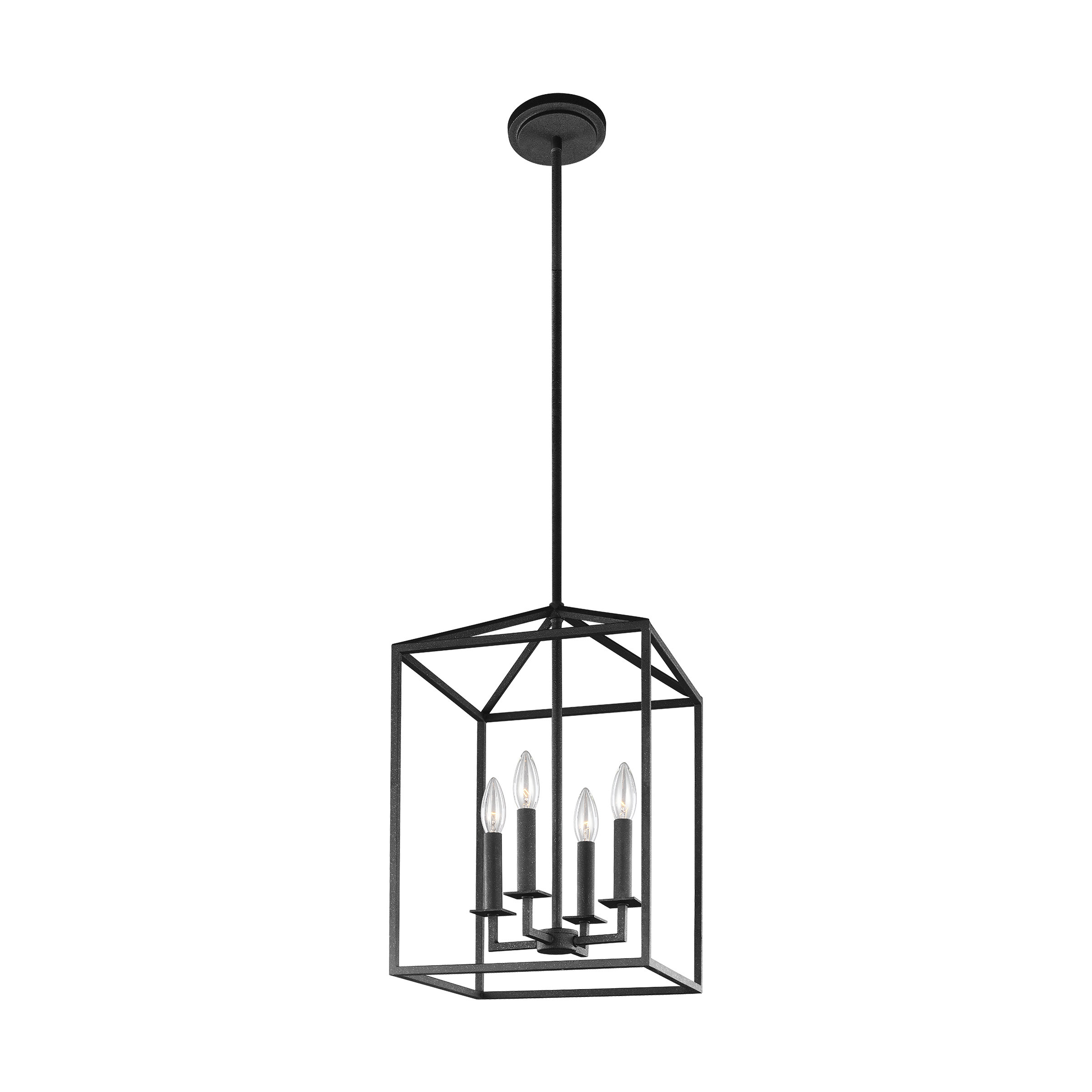 Favorite Odie 8 Light Kitchen Island Square / Rectangle Pendants Pertaining To Odie 4 Light Lantern Square / Rectangle Pendant (View 12 of 25)