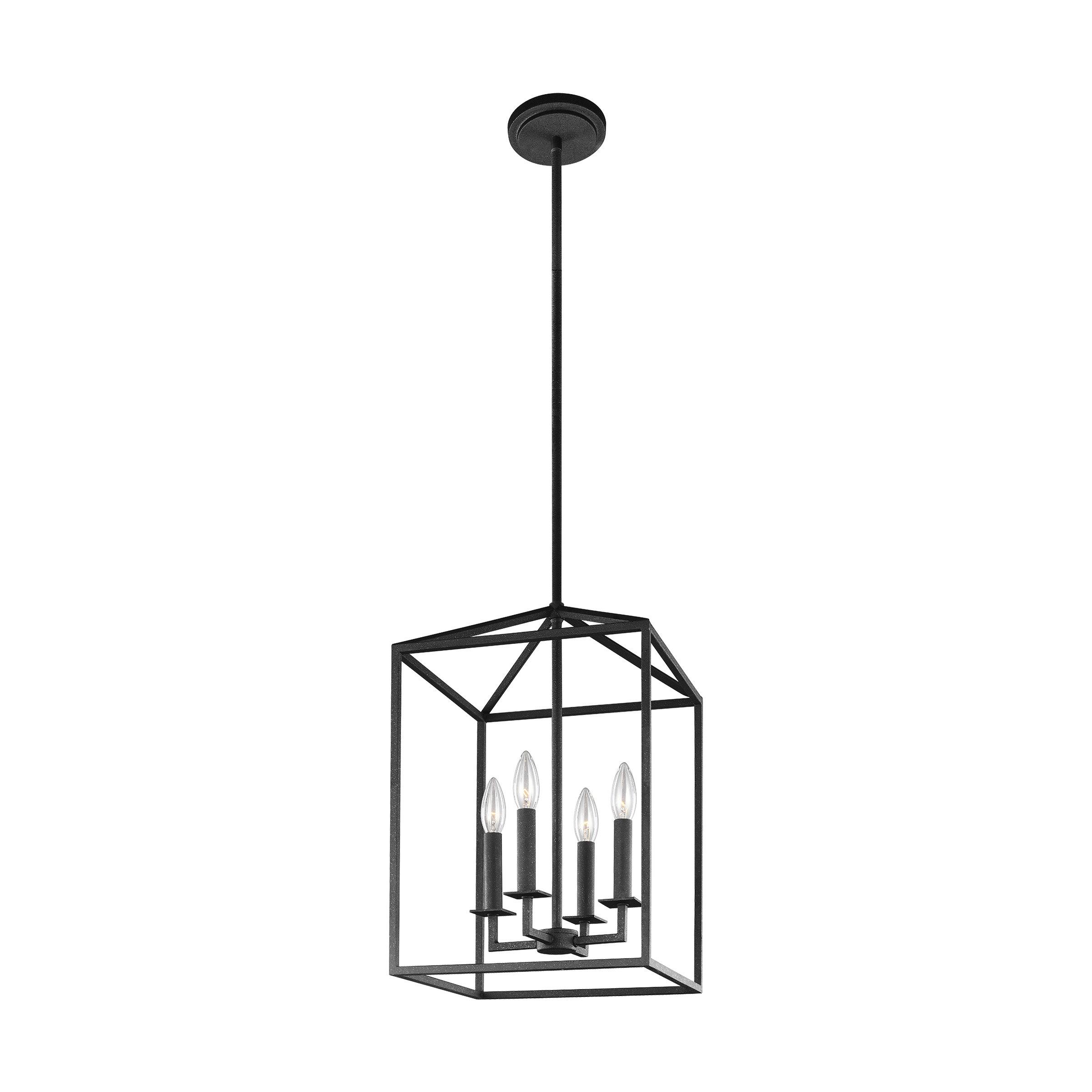 Favorite Odie 8 Light Kitchen Island Square / Rectangle Pendants Pertaining To Odie 4 Light Lantern Square / Rectangle Pendant (View 6 of 25)