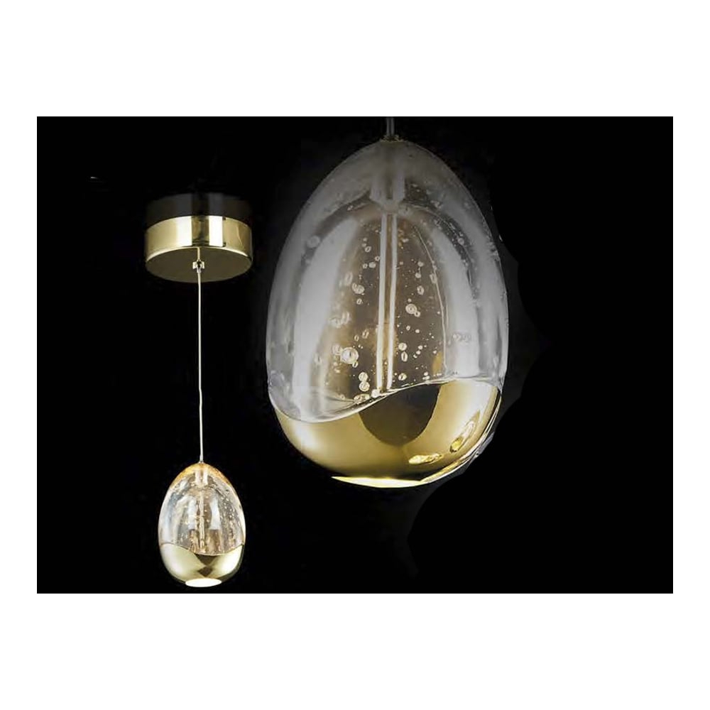 Favorite Schuller Rocio Single Gold Crystal Egg Orb Ceiling Pendant Within Hamilton 1 Light Single Dome Pendants (View 23 of 25)