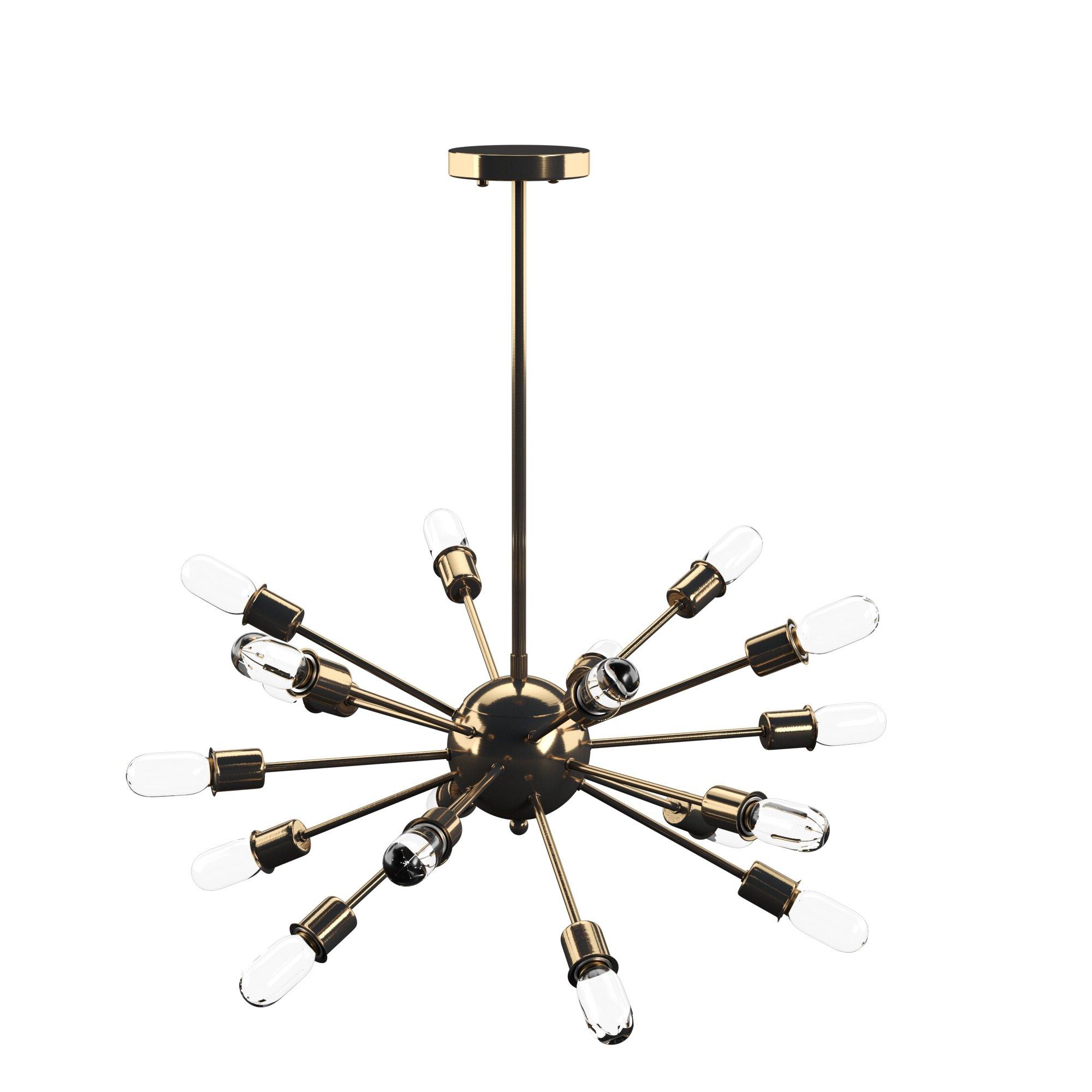 Favorite Vroman 12 Light Sputnik Chandeliers Regarding Defreitas 18 Light Sputnik Chandelier (View 8 of 25)