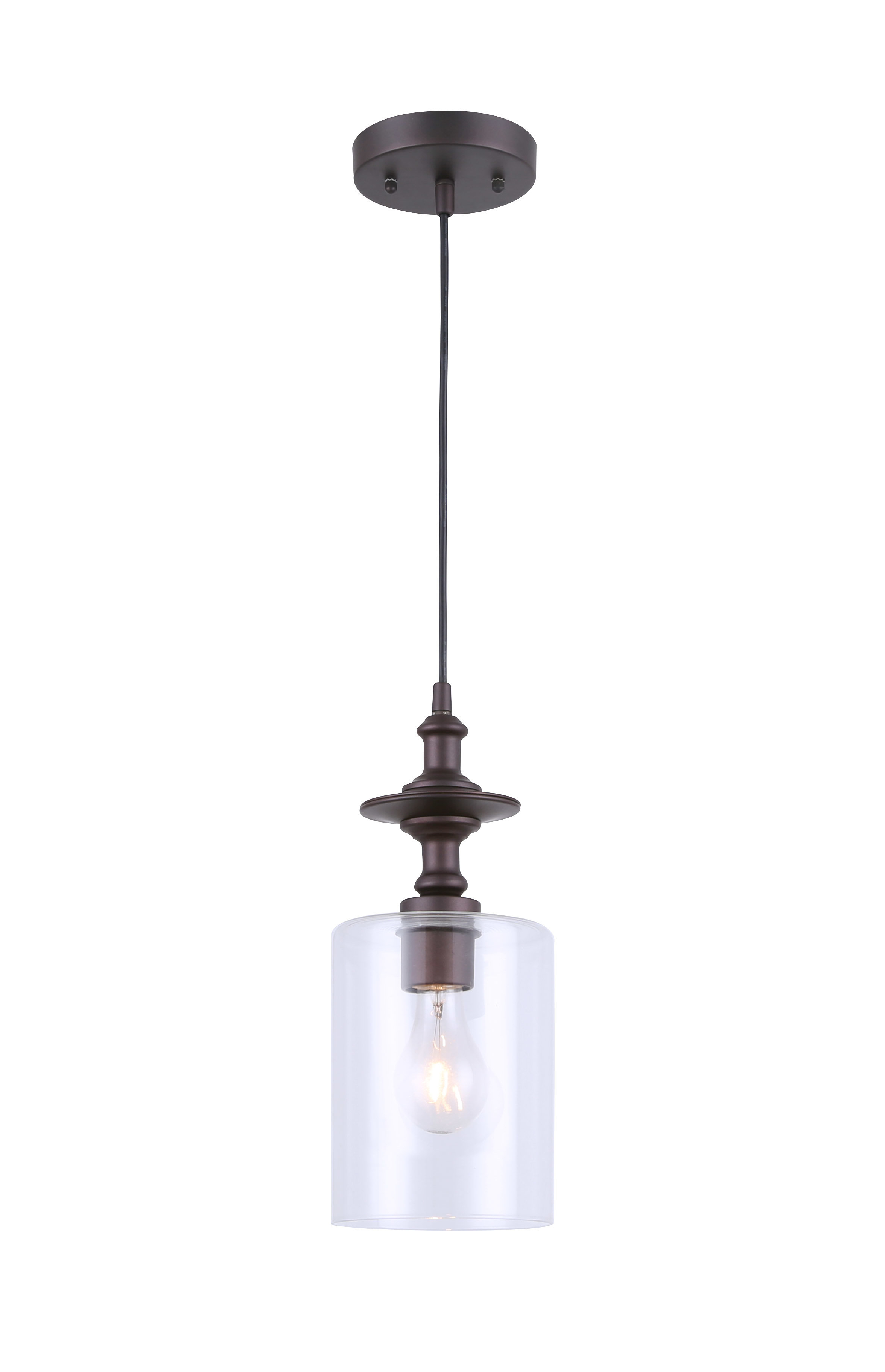 Favorite Wrought Studio Moyer 1 Light Single Cylinder Pendant With Regard To Grullon Scroll 1 Light Single Bell Pendants (View 10 of 25)