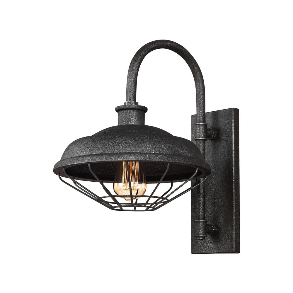 Feiss Lennex 1 Light Slated Grey Metal Outdoor 17.25 In (View 20 of 25)