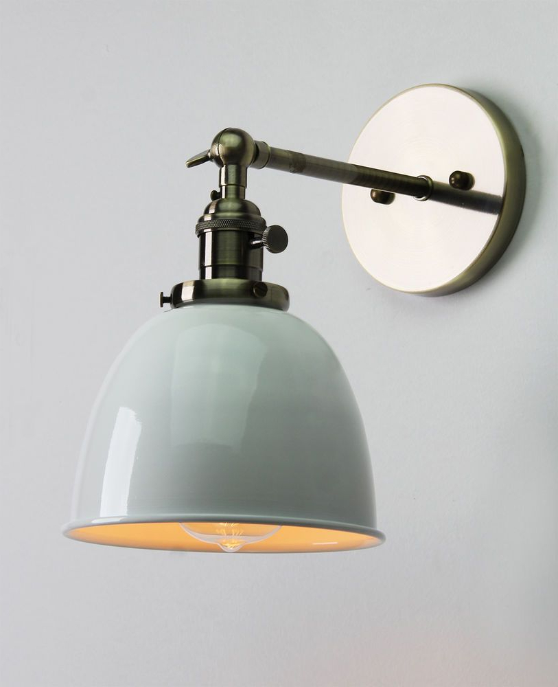 Finlayson Iron Gate 1 Light Single Bell Pendants In Most Up To Date Vintage Antique Industrial Bowl Sconce Loft Wall Light Wall (View 24 of 25)
