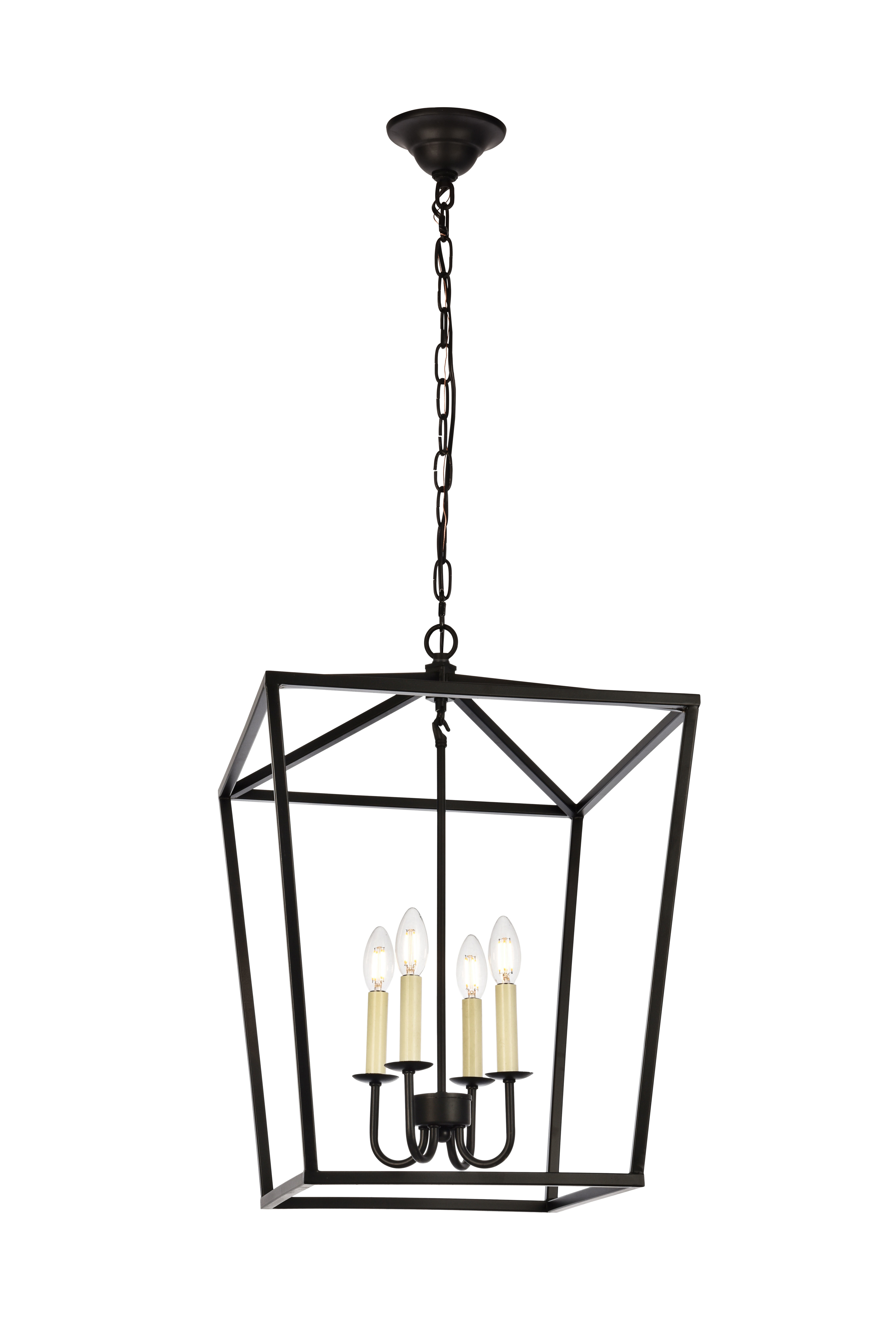 Finnick 4 Light Foyer Pendant Throughout 2020 Odie 8 Light Lantern Square / Rectangle Pendants (View 5 of 25)