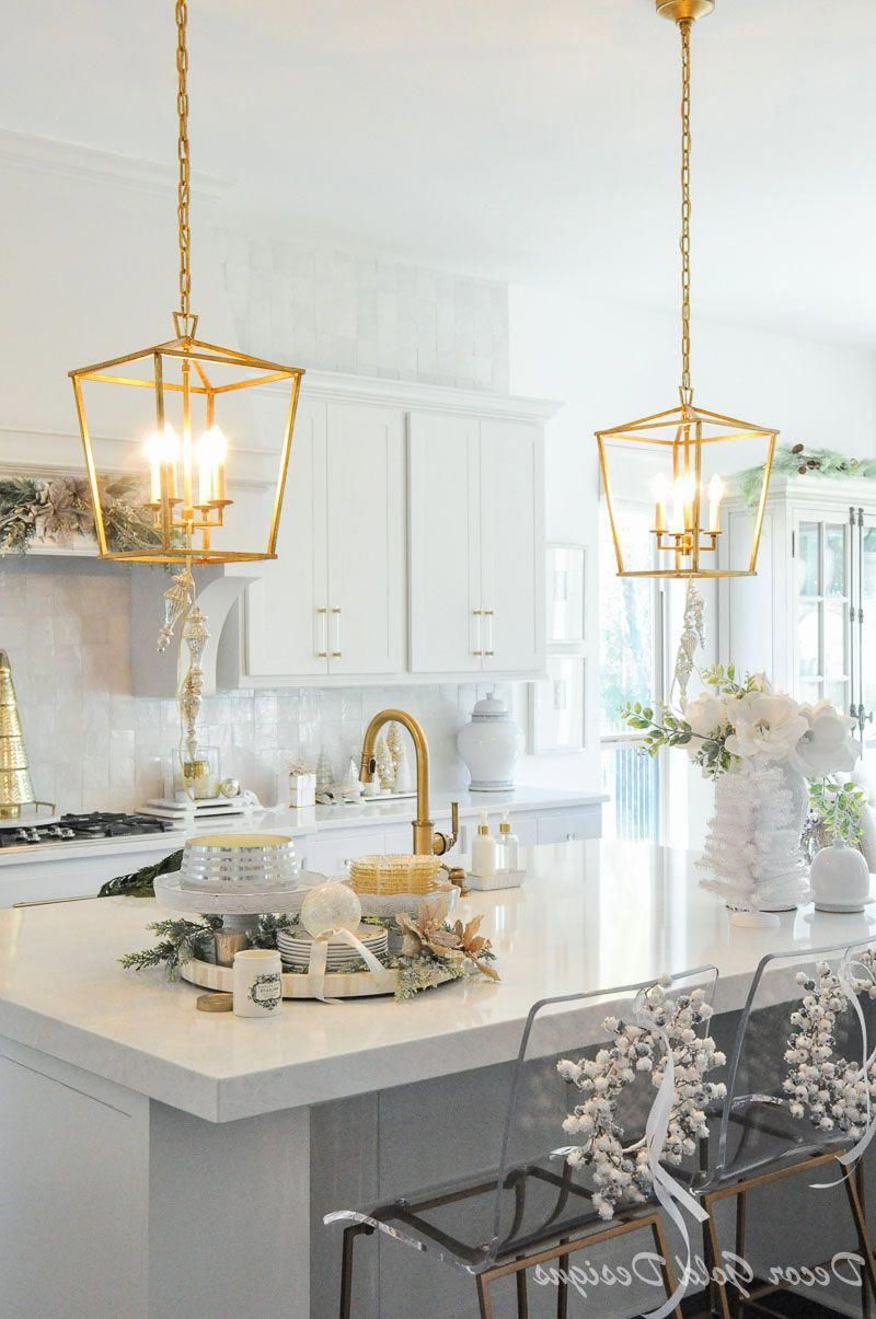 Finnick 4 Light Foyer Pendants In Trendy Gold Light Pendants Beautiful Holiday Kitchen (View 8 of 25)
