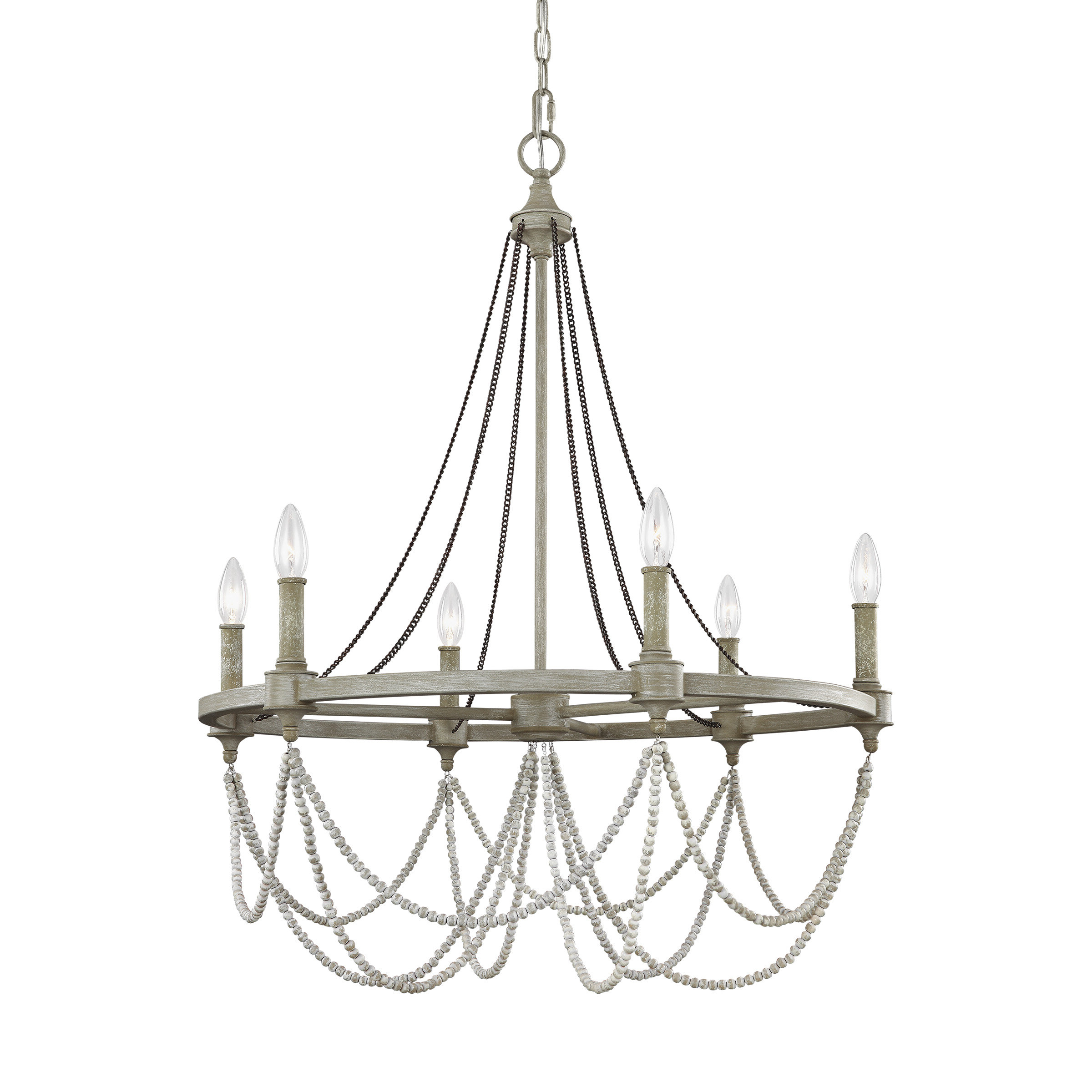 Fitzgibbon 6 Light Candle Style Chandelier In Favorite Diaz 6 Light Candle Style Chandeliers (View 17 of 25)