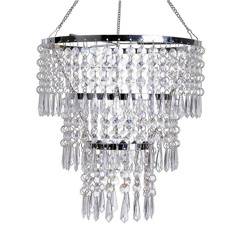 Flavorthings 3 Tiers Fuax Crystal Acrylic Beaded Chandelier,diam (View 11 of 25)