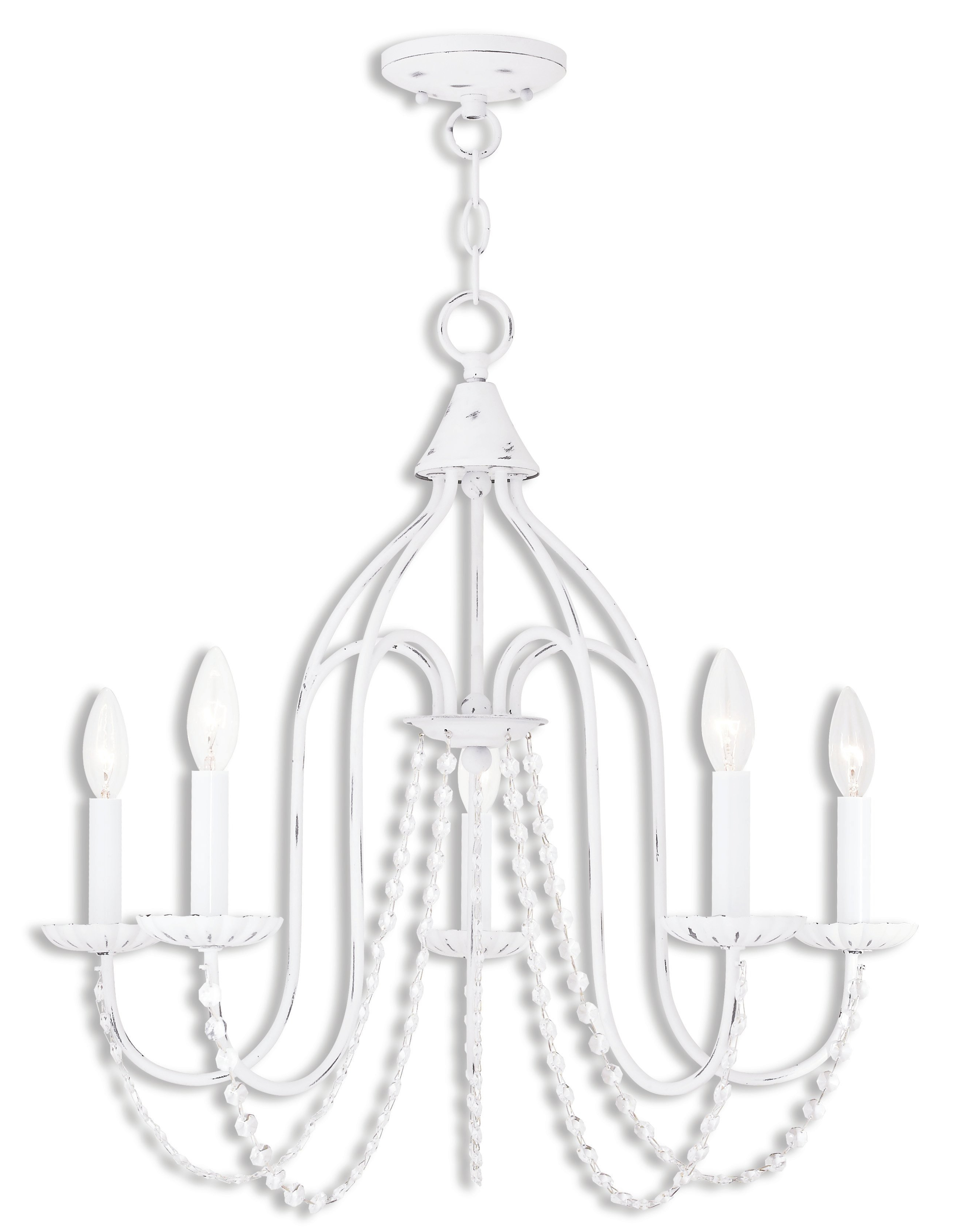 Florentina 5 Light Candle Style Chandelier In Favorite Florentina 5 Light Candle Style Chandeliers (View 5 of 25)