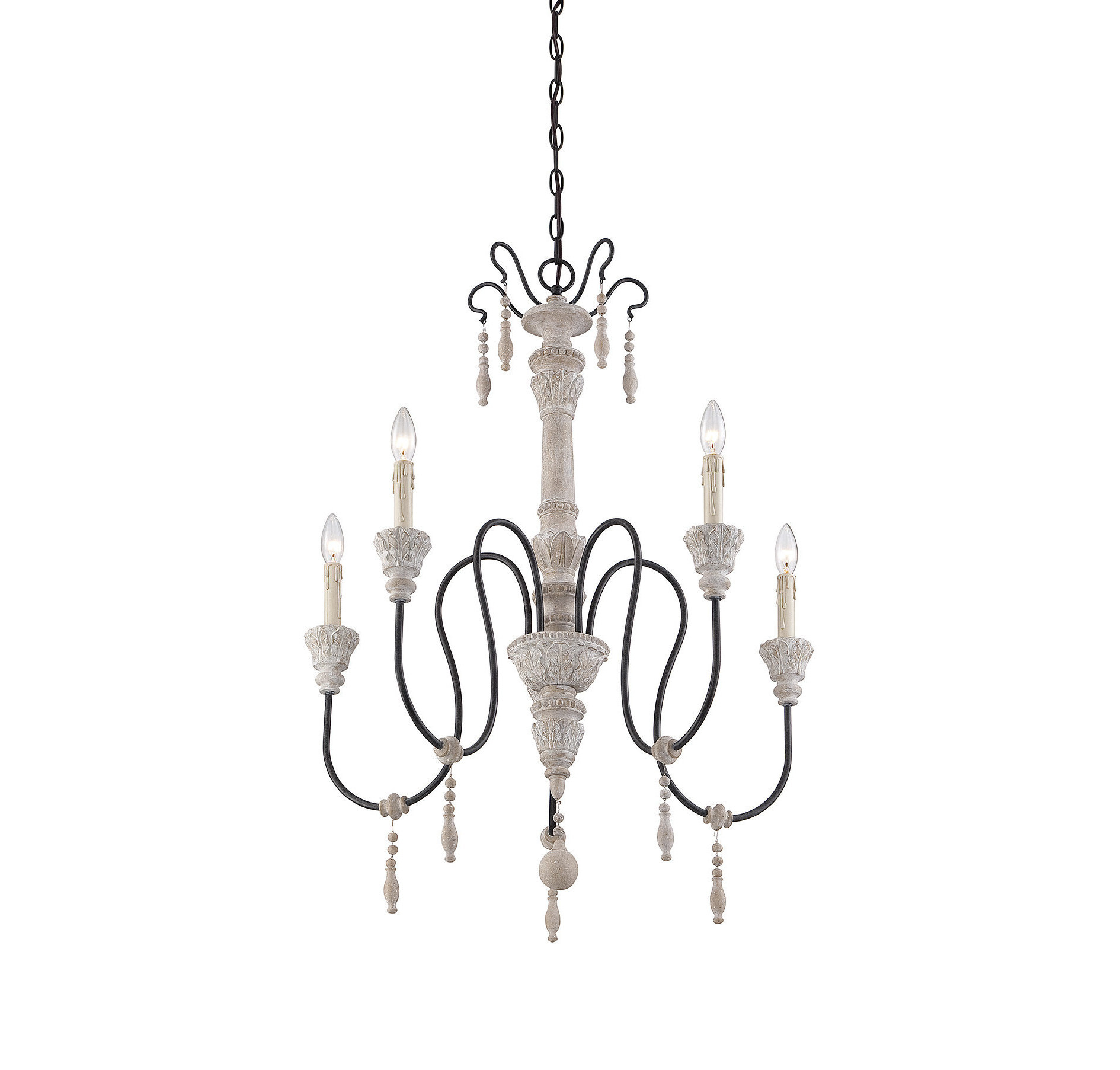 Florentina 5 Light Candle Style Chandeliers Intended For Best And Newest Corneau 5 Light Chandelier (View 6 of 25)