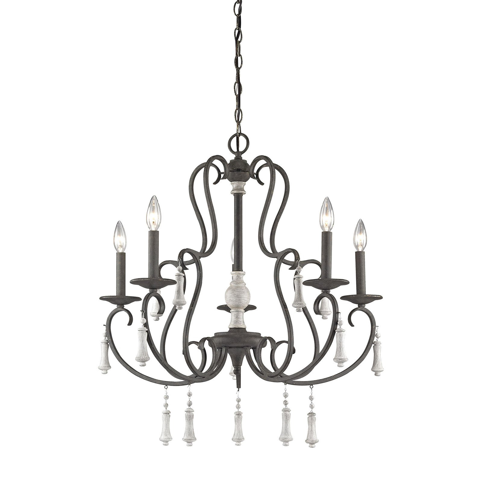Florentina 5 Light Candle Style Chandeliers Regarding Trendy Elk Lighting Porto Cristo 52022/5 5 Light Chandelier In  (View 21 of 25)