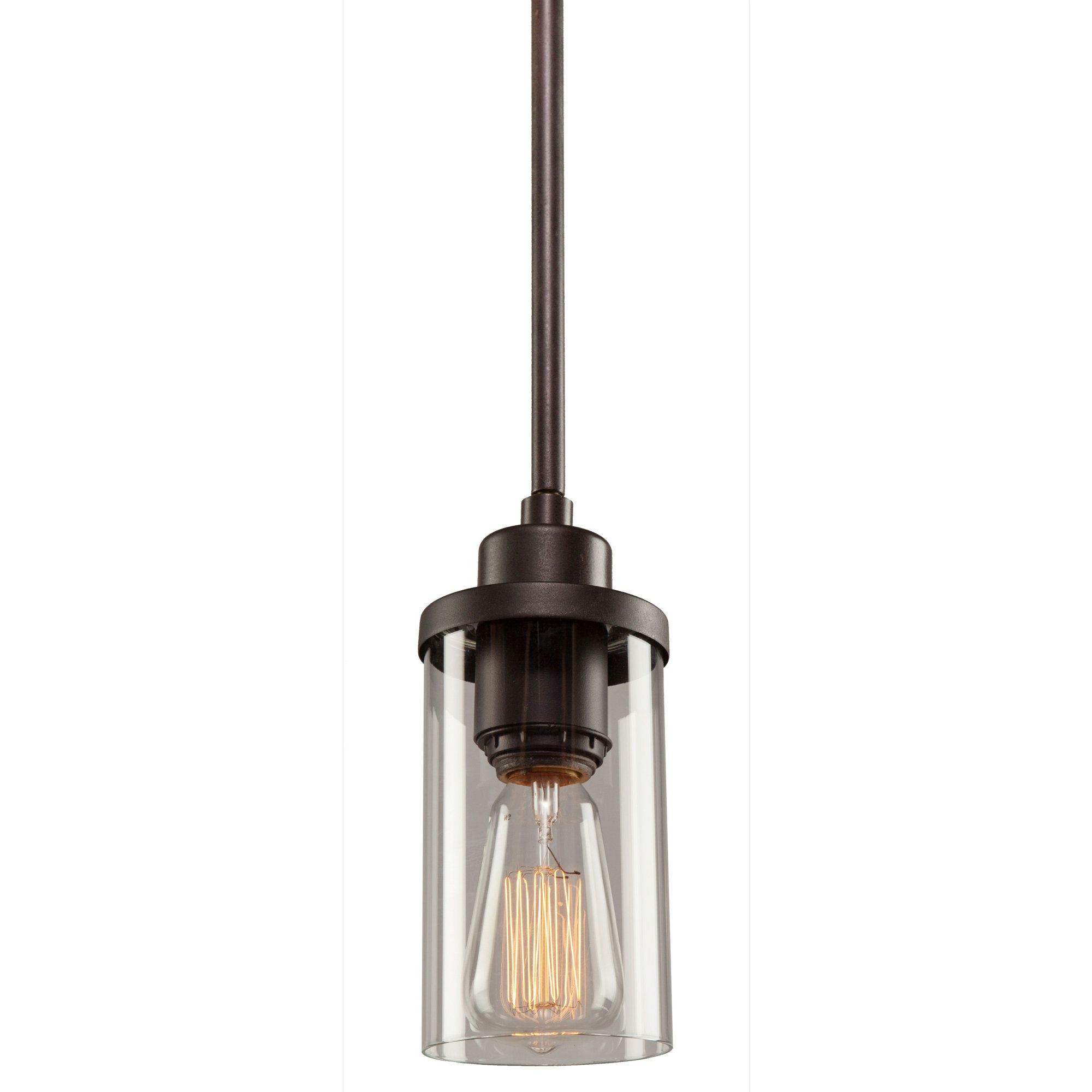 Florine 1 Light Single Cylinder Pendant In Favorite Angelina 1 Light Single Cylinder Pendants (View 6 of 25)