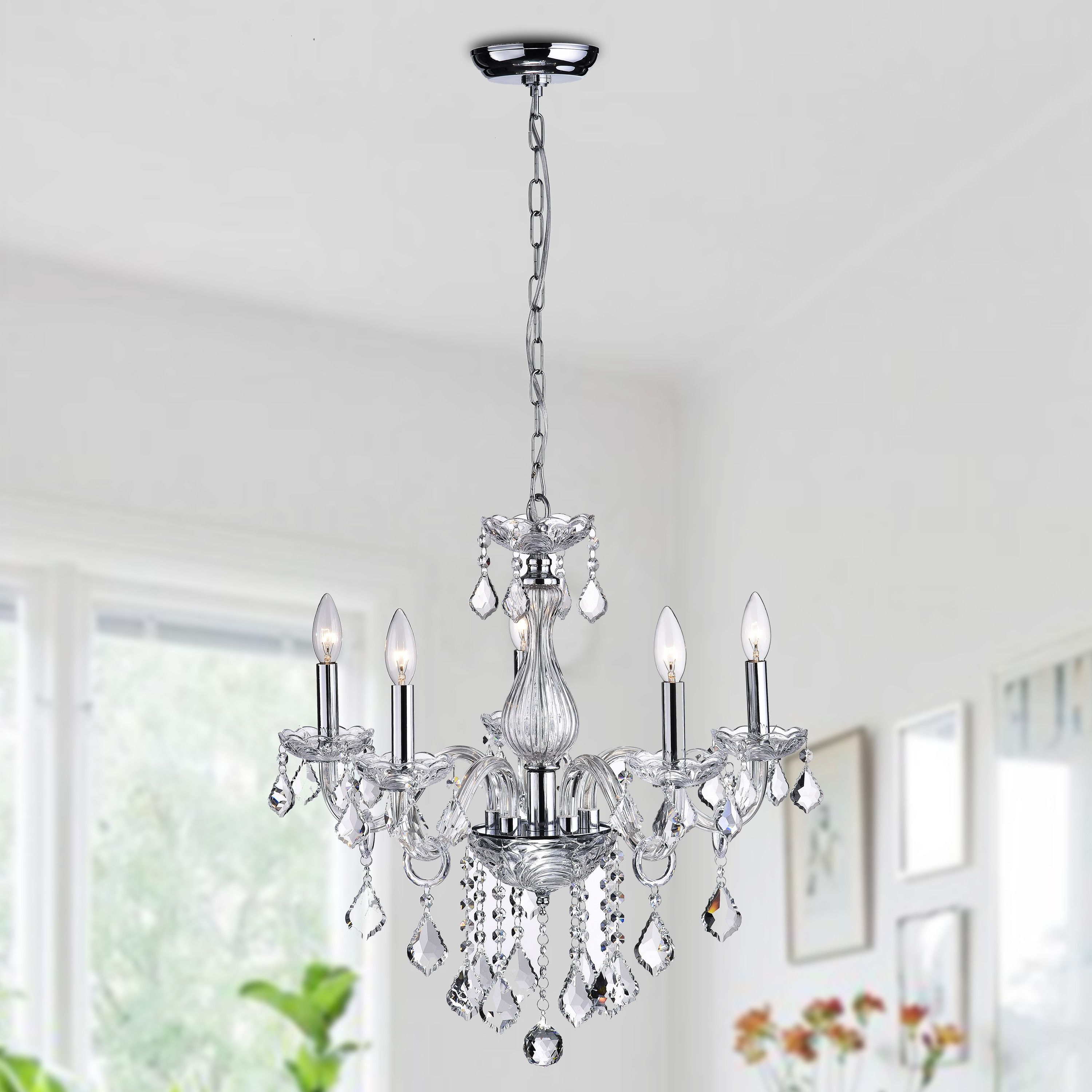 For The Home Inside 2020 Hesse 5 Light Candle Style Chandeliers (View 11 of 25)