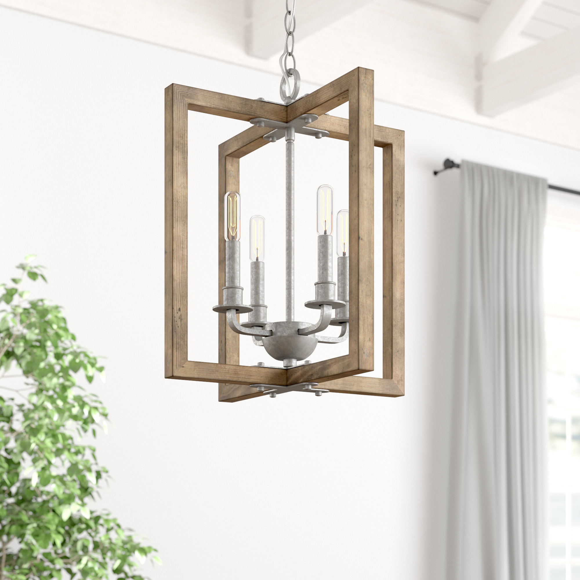 Freeburg 4 Light Lantern Square / Rectangle Pendants With Regard To Recent Daugherty 4 Light Square/rectangle Chandelier (View 10 of 25)