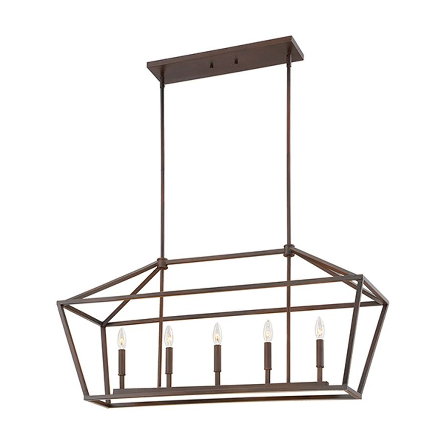 Freemont 5 Light Kitchen Island Linear Chandeliers For Trendy Millennium Lighting 40 In W 5 Light Rubbed Bronze Kitchen (View 8 of 25)