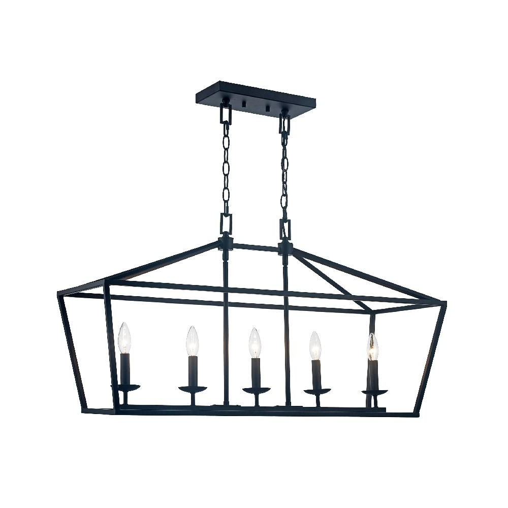 Freemont 5 Light Kitchen Island Linear Chandeliers Throughout Widely Used Monteaux Lighting Caged 5 Light Bronze Chandelier (View 13 of 25)