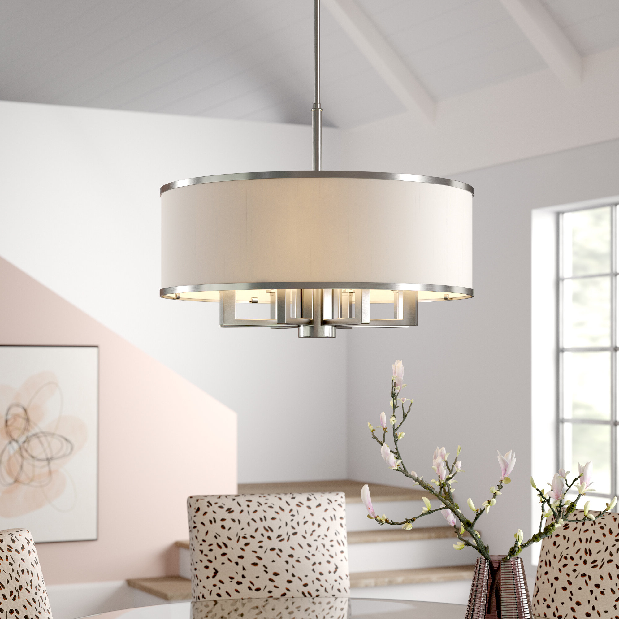 Friedland 3 Light Drum Tiered Pendants In Most Recent Breithaup 7 Light Drum Chandelier & Reviews (View 14 of 25)