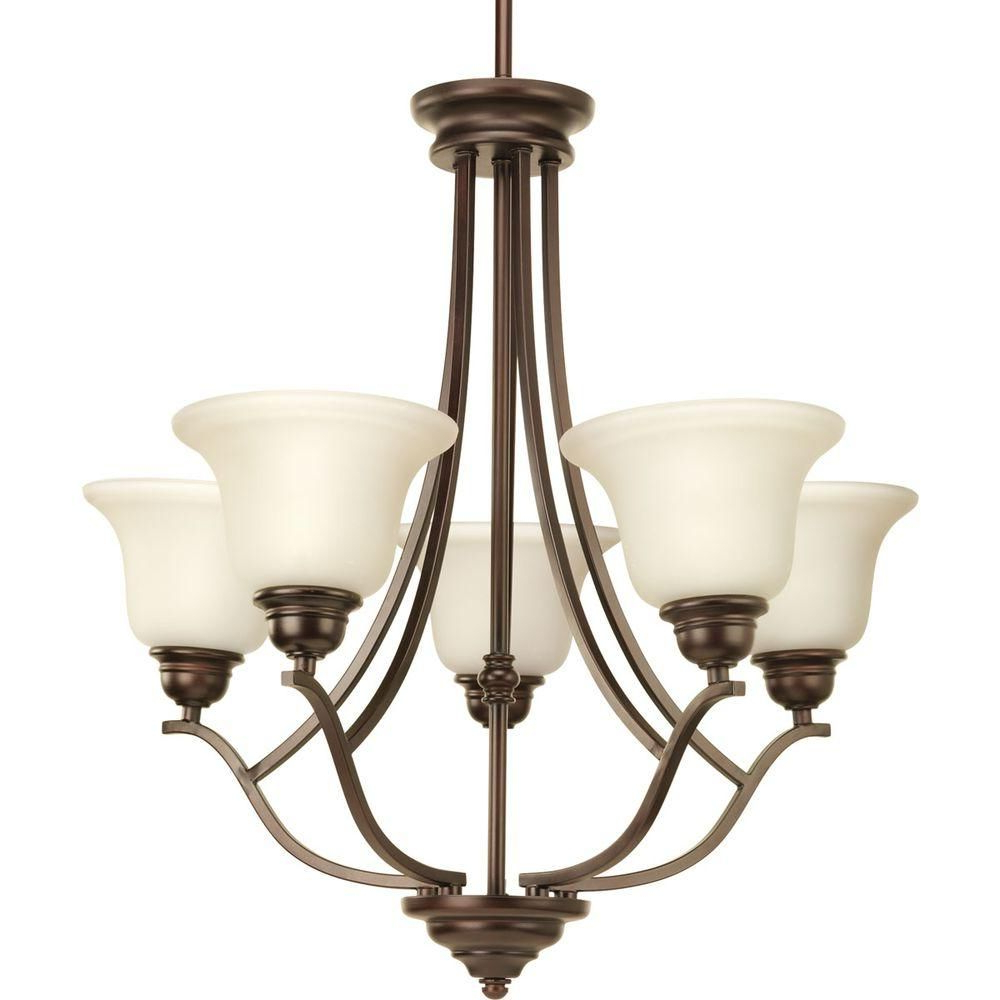 Gaines 5 Light Shaded Chandeliers Inside Famous Progress Lighting Spirit Collection 5 Light Pebbles (View 10 of 25)
