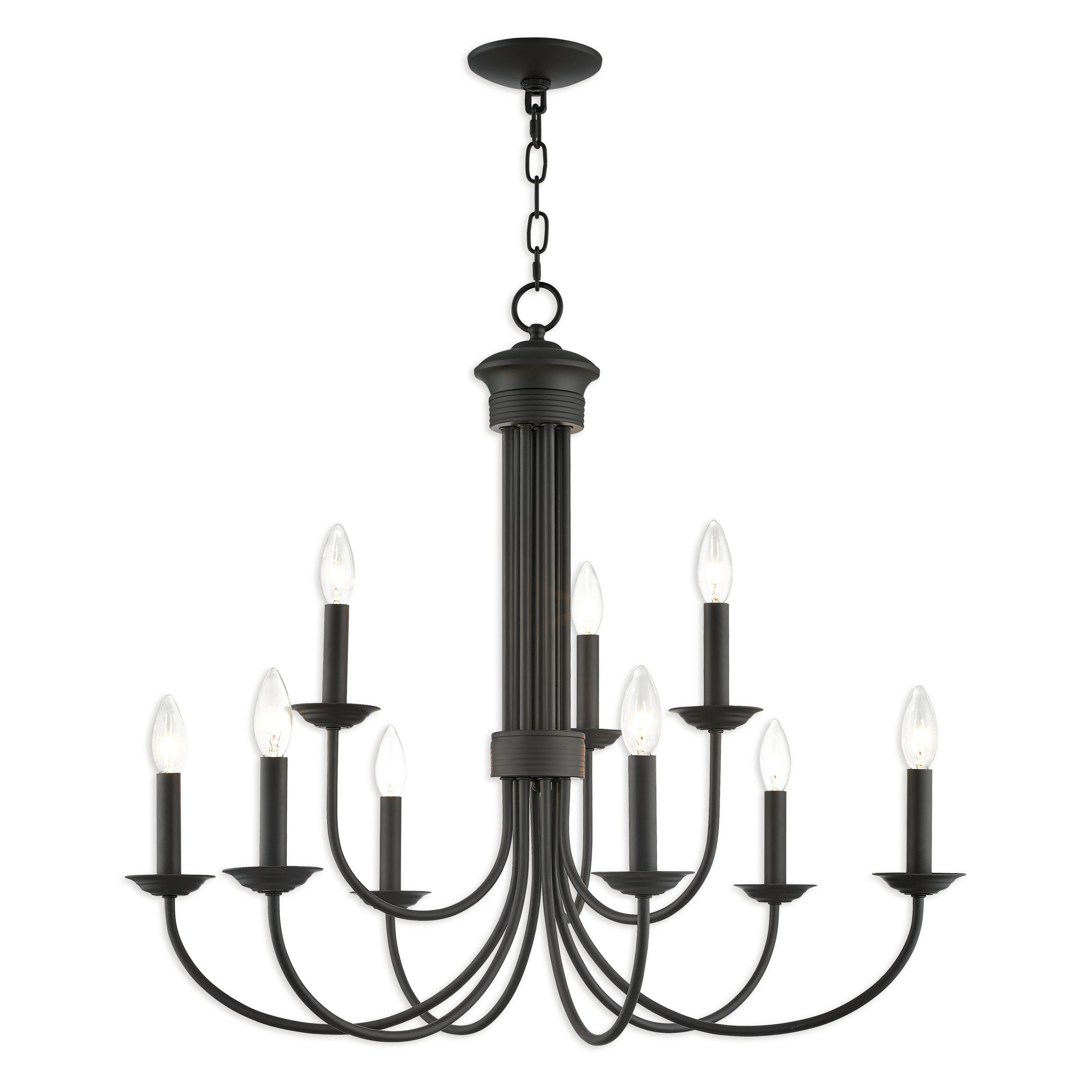 Gaines 9 Light Candle Style Chandeliers In Trendy Carruthers 9 Light Candle Style Chandelier (View 8 of 25)
