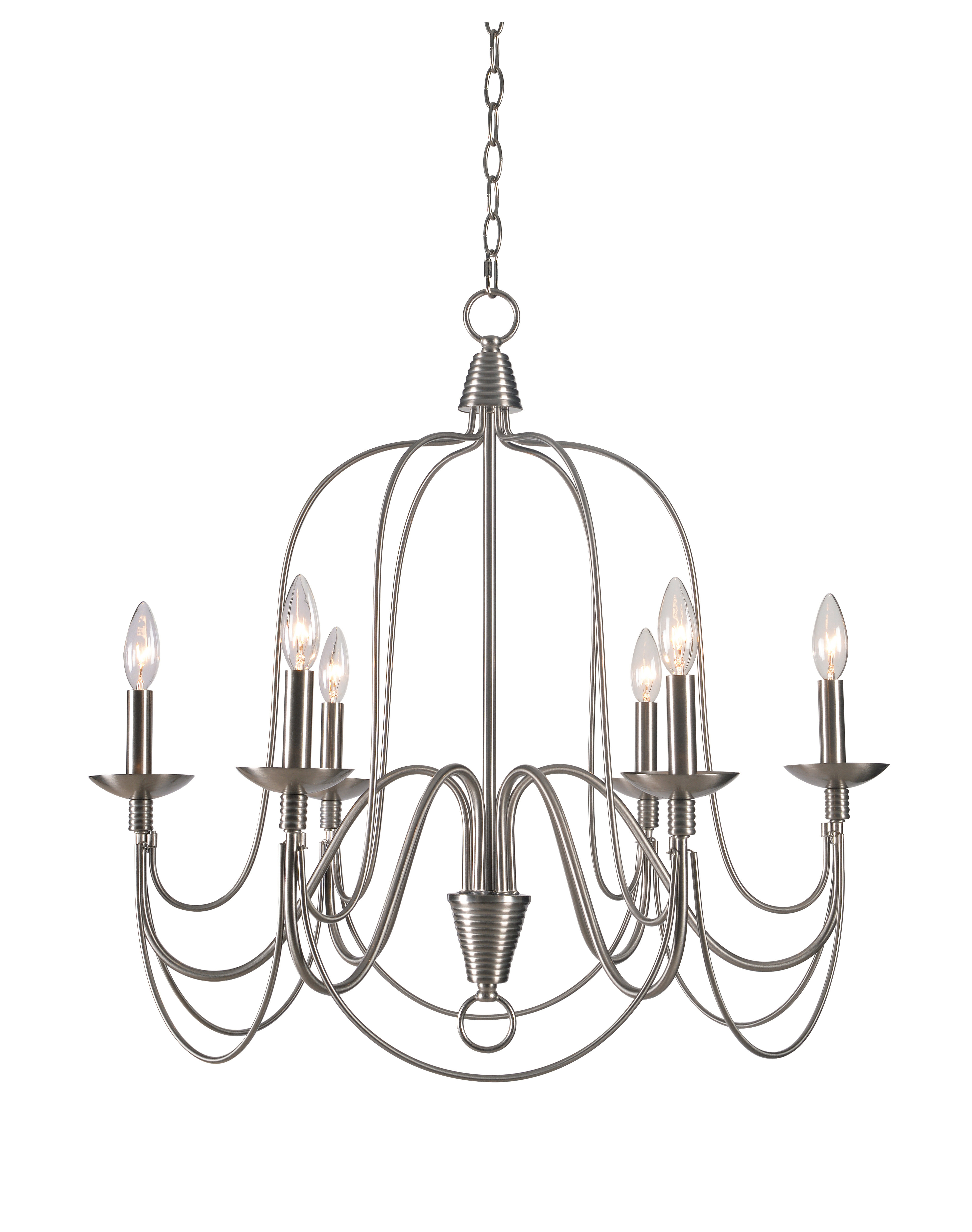 Gaines 9 Light Candle Style Chandeliers Intended For Most Recent Kollman 6 Light Candle Style Chandelier (View 10 of 25)
