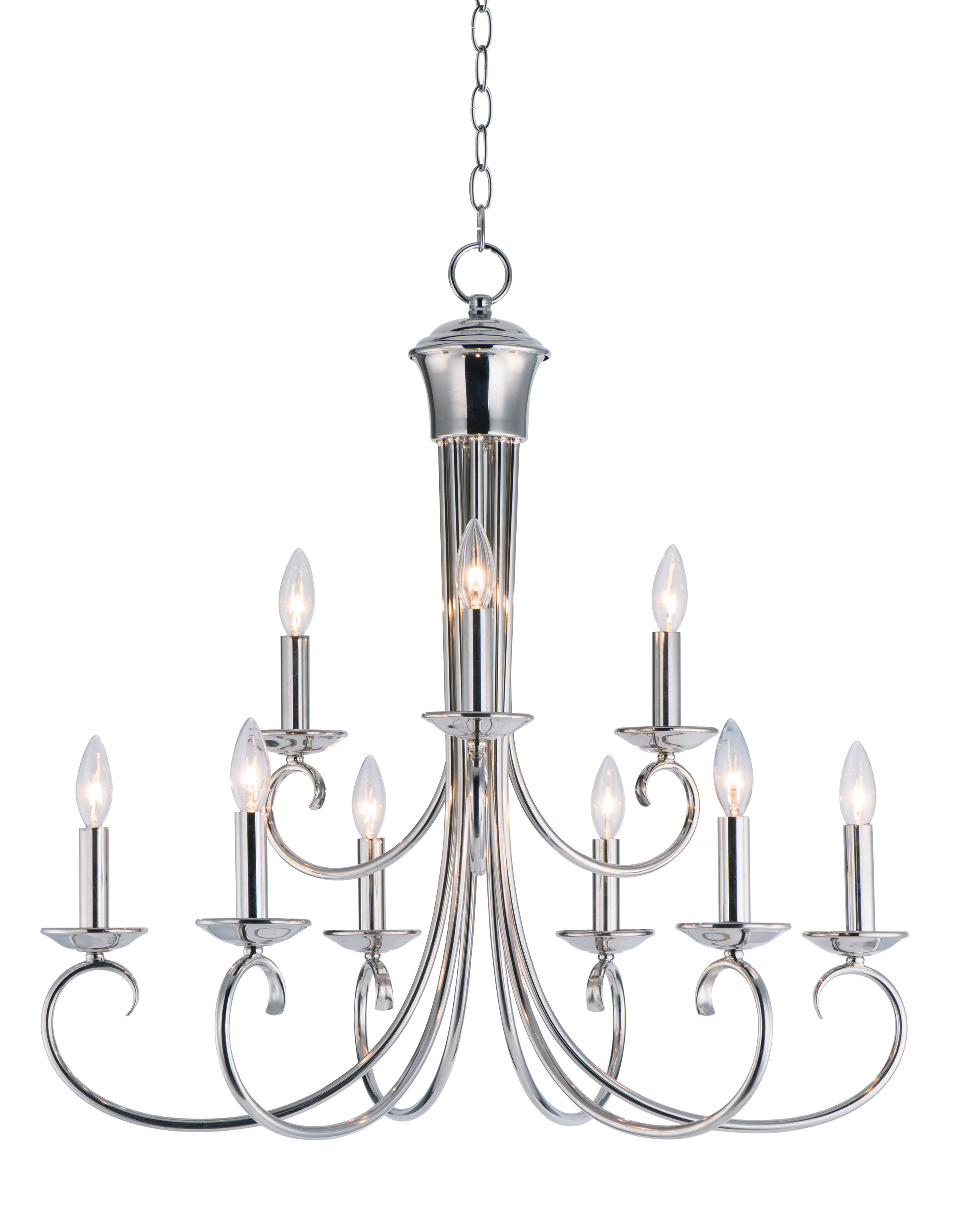 Gaines 9 Light Candle Style Chandeliers Within Most Recent Kenedy 9 Light Candle Style Chandelier (View 11 of 25)