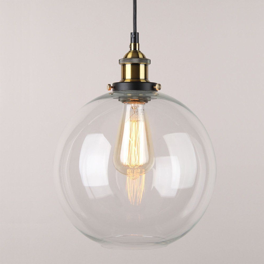 Gehry 1 Light Single Globe Pendants Intended For Famous Winsoon 9 X 9 Inch Globe Vintage Industrial Ceiling Lamp (View 6 of 25)