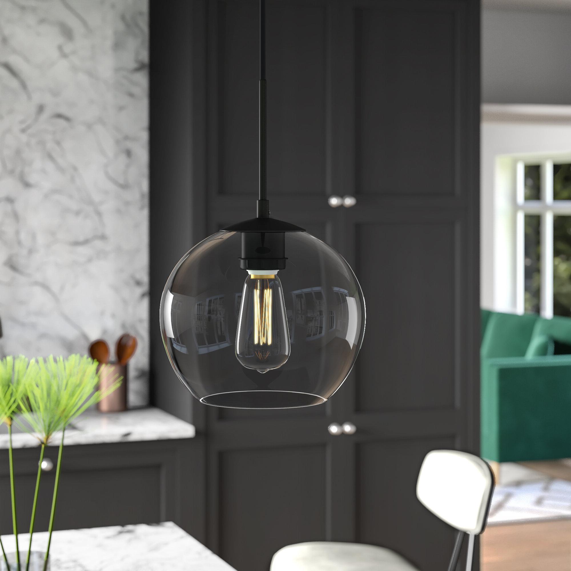 Gehry 1 Light Single Globe Pendants Regarding Fashionable Yearwood 1 Light Single Globe Pendant (View 14 of 25)