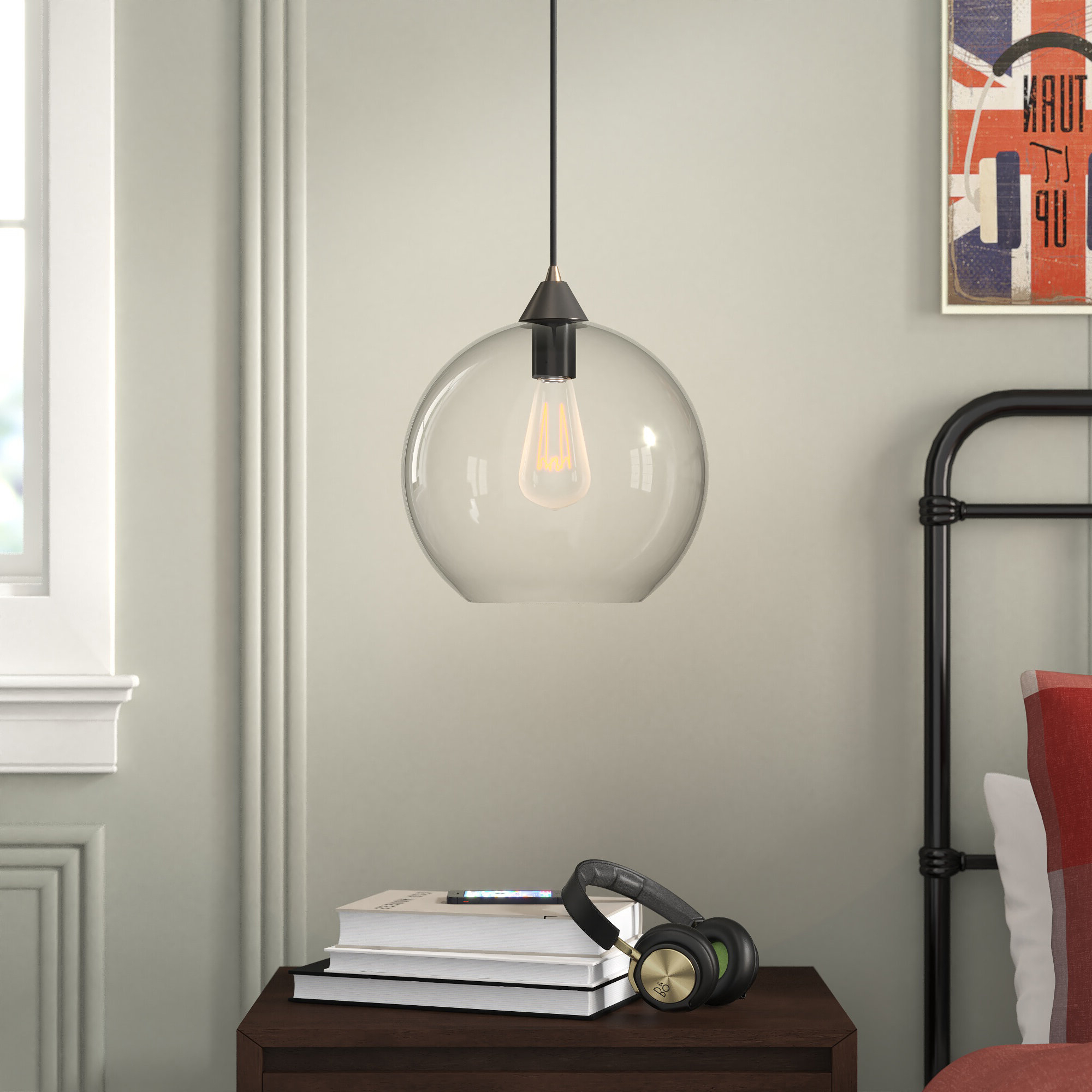 Gehry 1 Light Single Globe Pendants Within Well Known Alana 1 Light Single Globe Pendant (View 9 of 25)