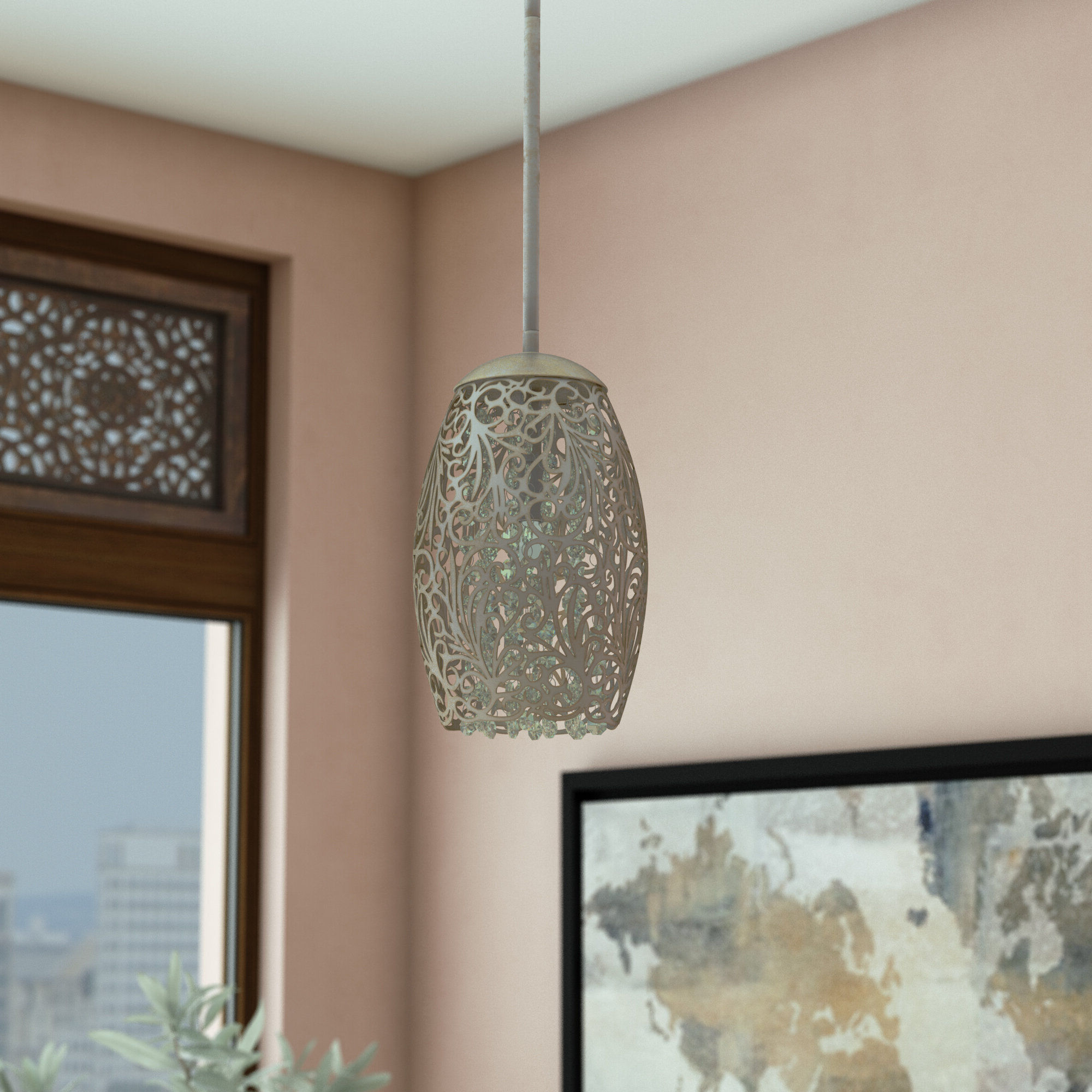 Giacinta 1 Light Single Bell Pendants Throughout Well Known Kraker 1 Light Single Cylinder Pendant (View 13 of 25)
