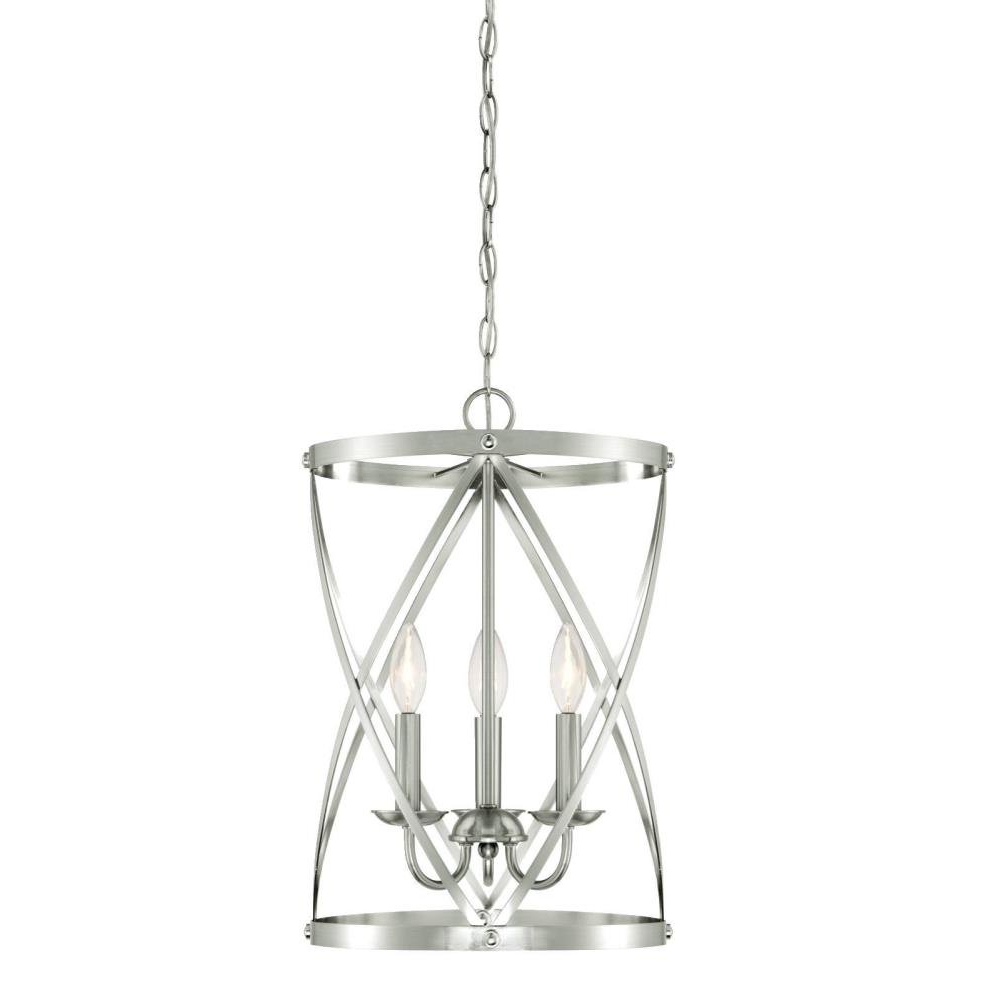 Gingerich 3 Light Lantern Pendant With Most Recently Released Van Horne 3 Light Single Teardrop Pendants (View 22 of 25)