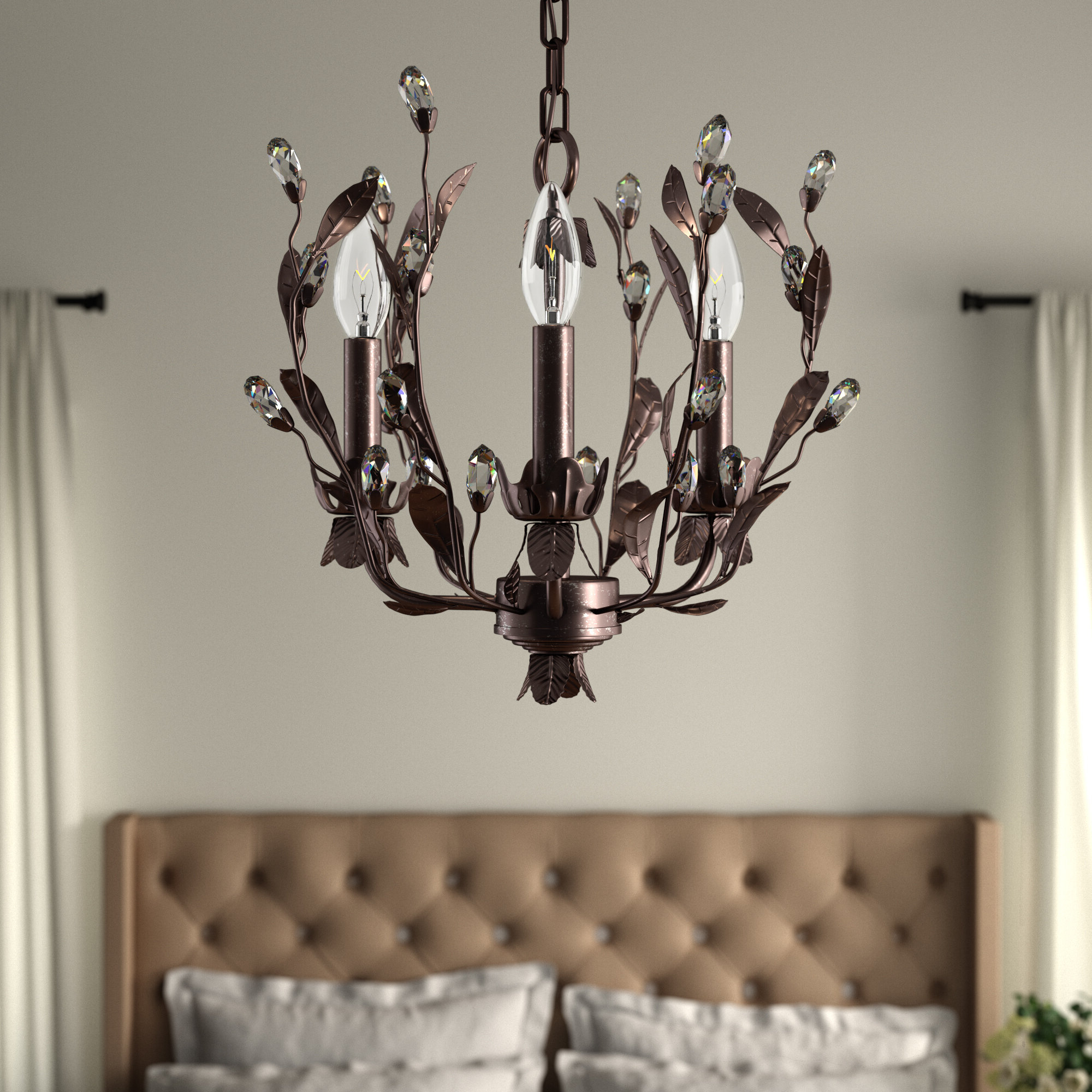 Giovanna 3 Light Candle Style Chandelier & Reviews (View 7 of 25)