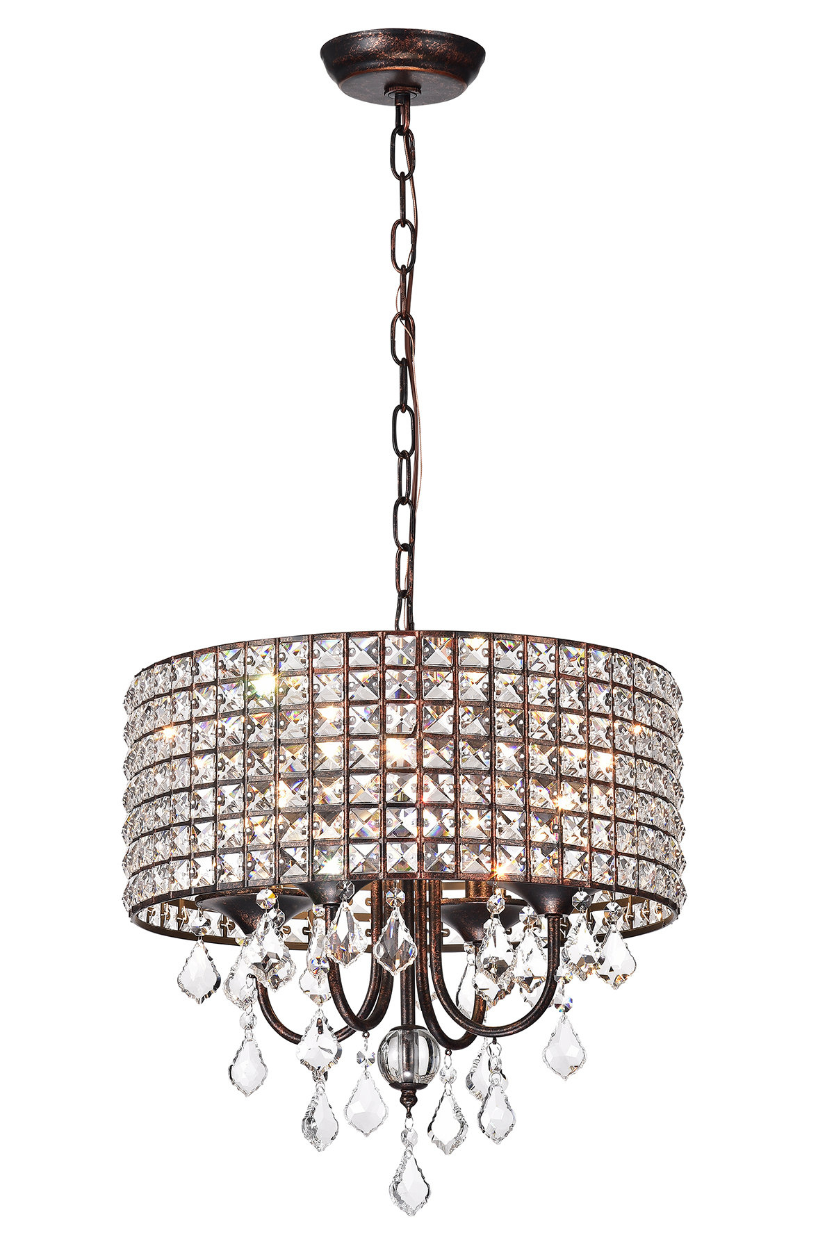 Gisselle 4 Light Drum Chandeliers For Most Popular Lavada 4 Light Drum Chandelier (View 10 of 25)