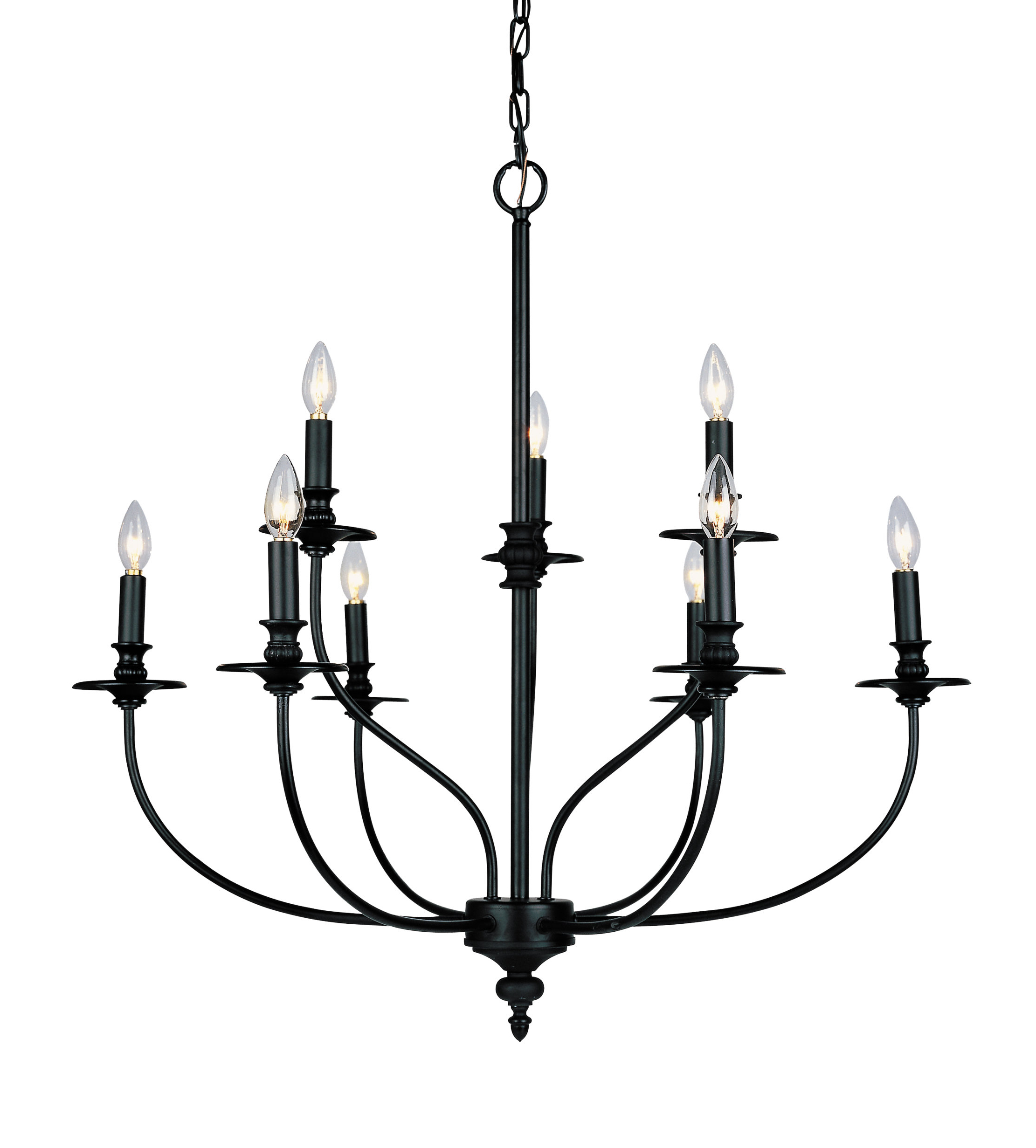 Giverny 9-Light Candle Style Chandelier within 2019 Giverny 9-Light Candle Style Chandeliers
