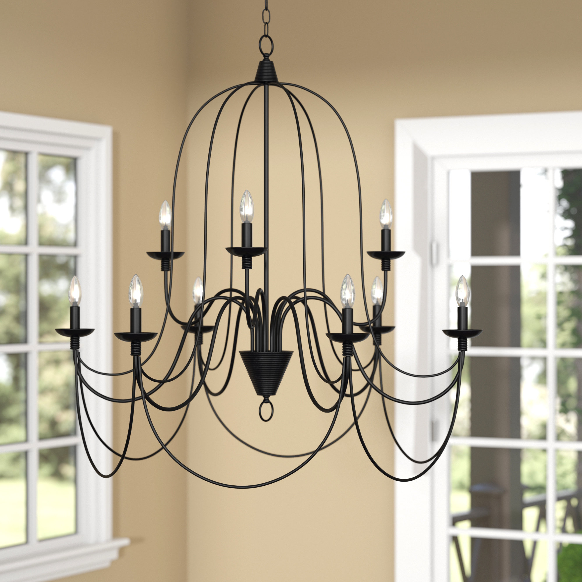 Giverny 9 Light Candle Style Chandeliers For 2019 Watford 9 Light Candle Style Chandelier (View 4 of 25)