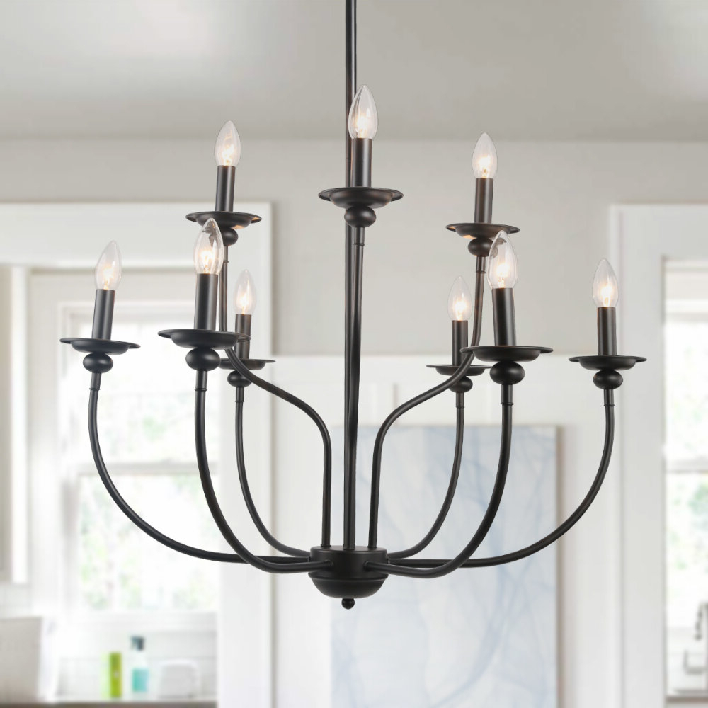 Giverny 9 Light Candle Style Chandeliers In Newest Shirely 2 Tier Traditional 9 Light Candle Style Chandelier (View 7 of 25)