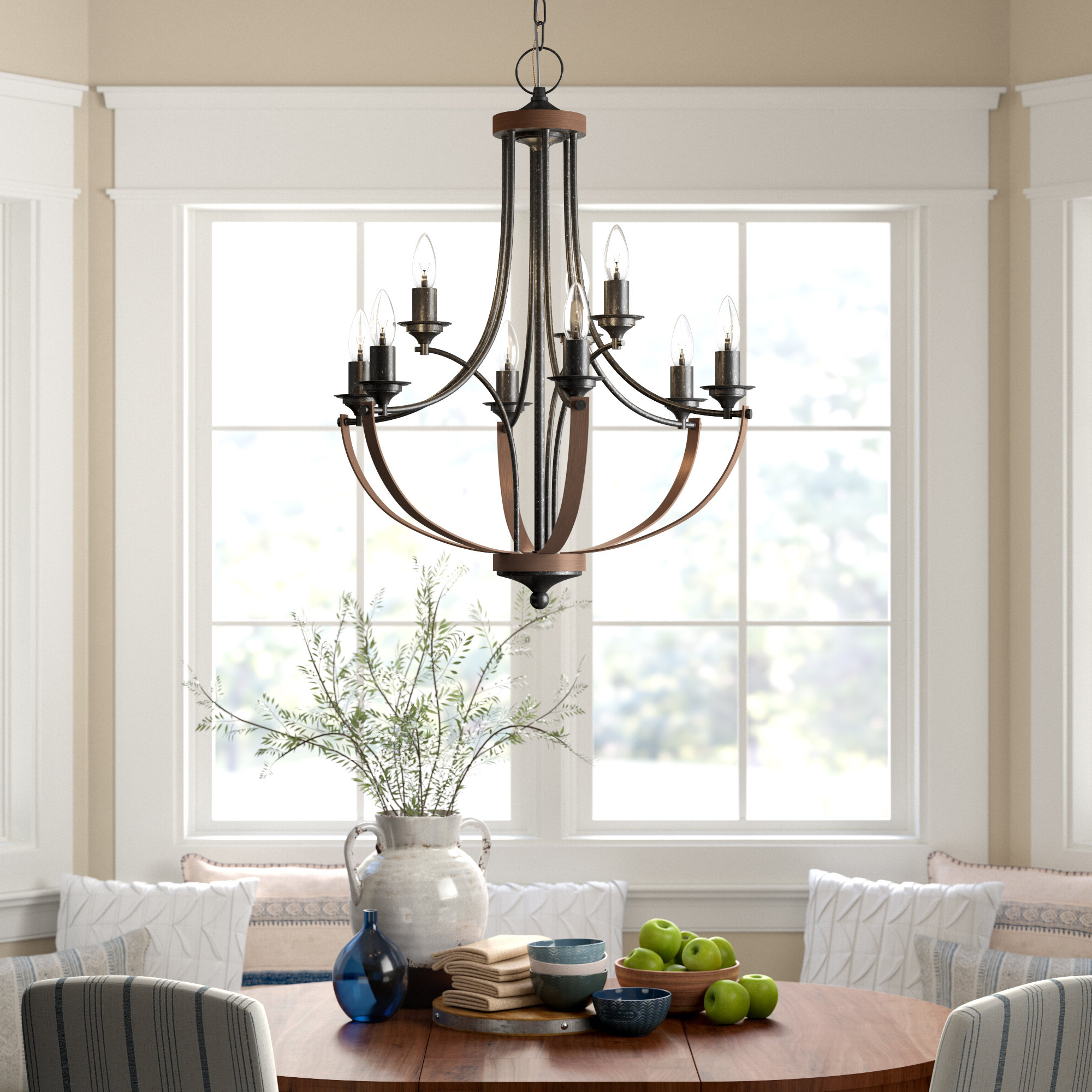 Giverny 9 Light Candle Style Chandeliers With Well Known Birch Lane™ Heritage Camilla 9 Light Candle Style Chandelier (View 12 of 25)