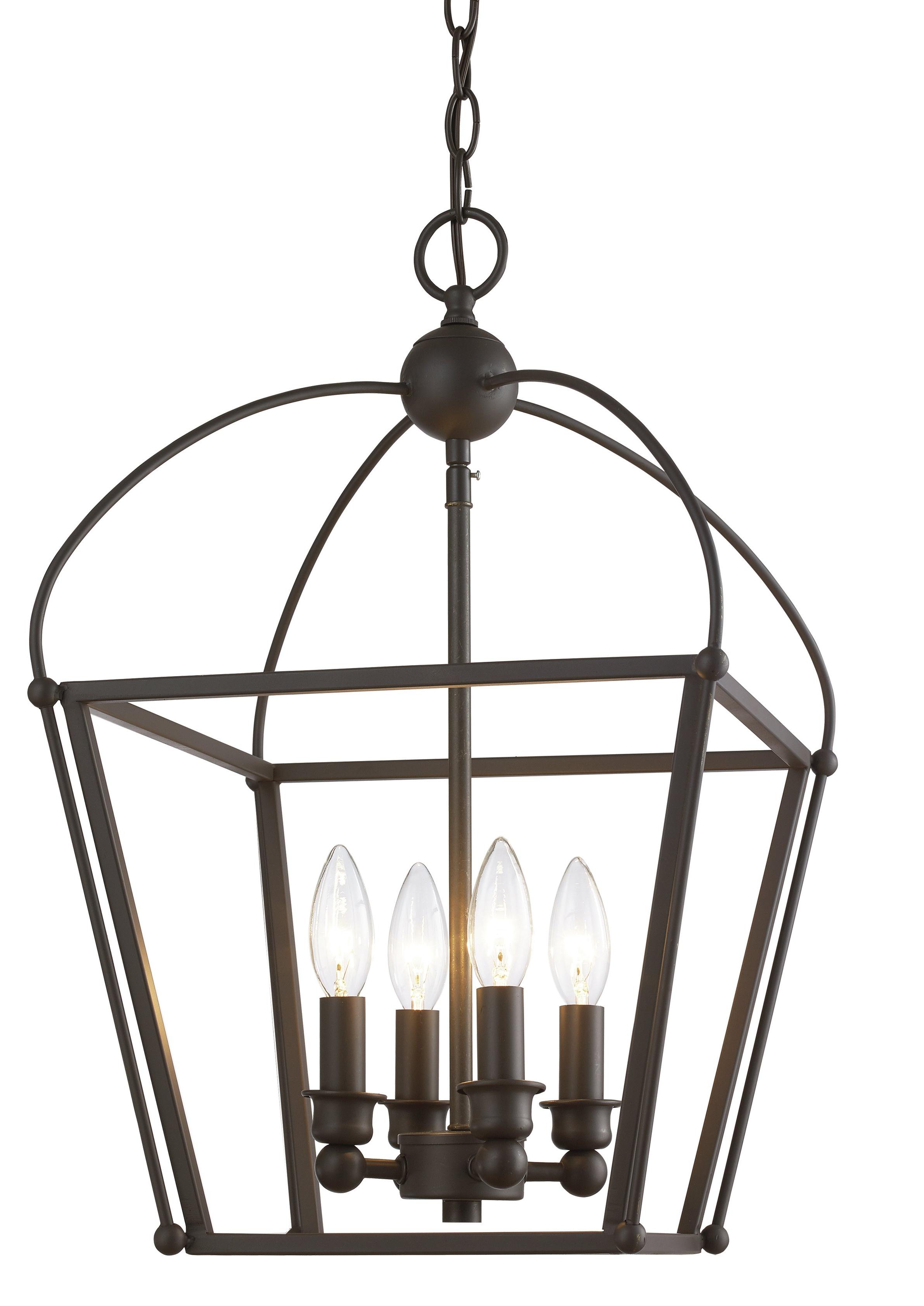 Gladding 4 Light Foyer Lantern Pendant Intended For Popular Varnum 4 Light Lantern Pendants (View 10 of 25)